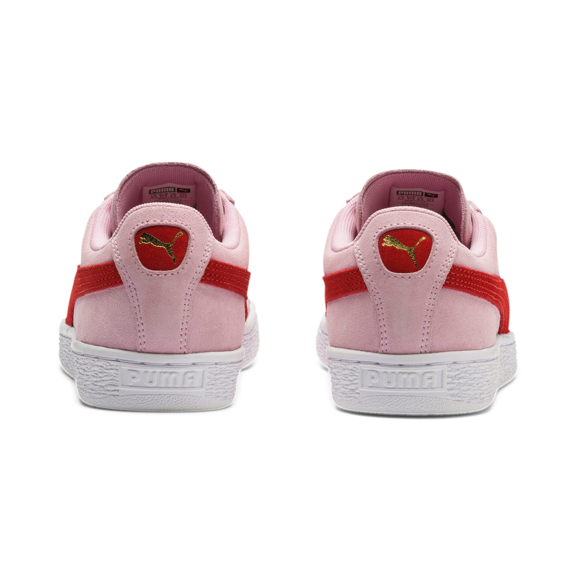 Thumbnail 4 of Suede Classic Women's Sneakers, Pale Pink-Hibiscus, medium