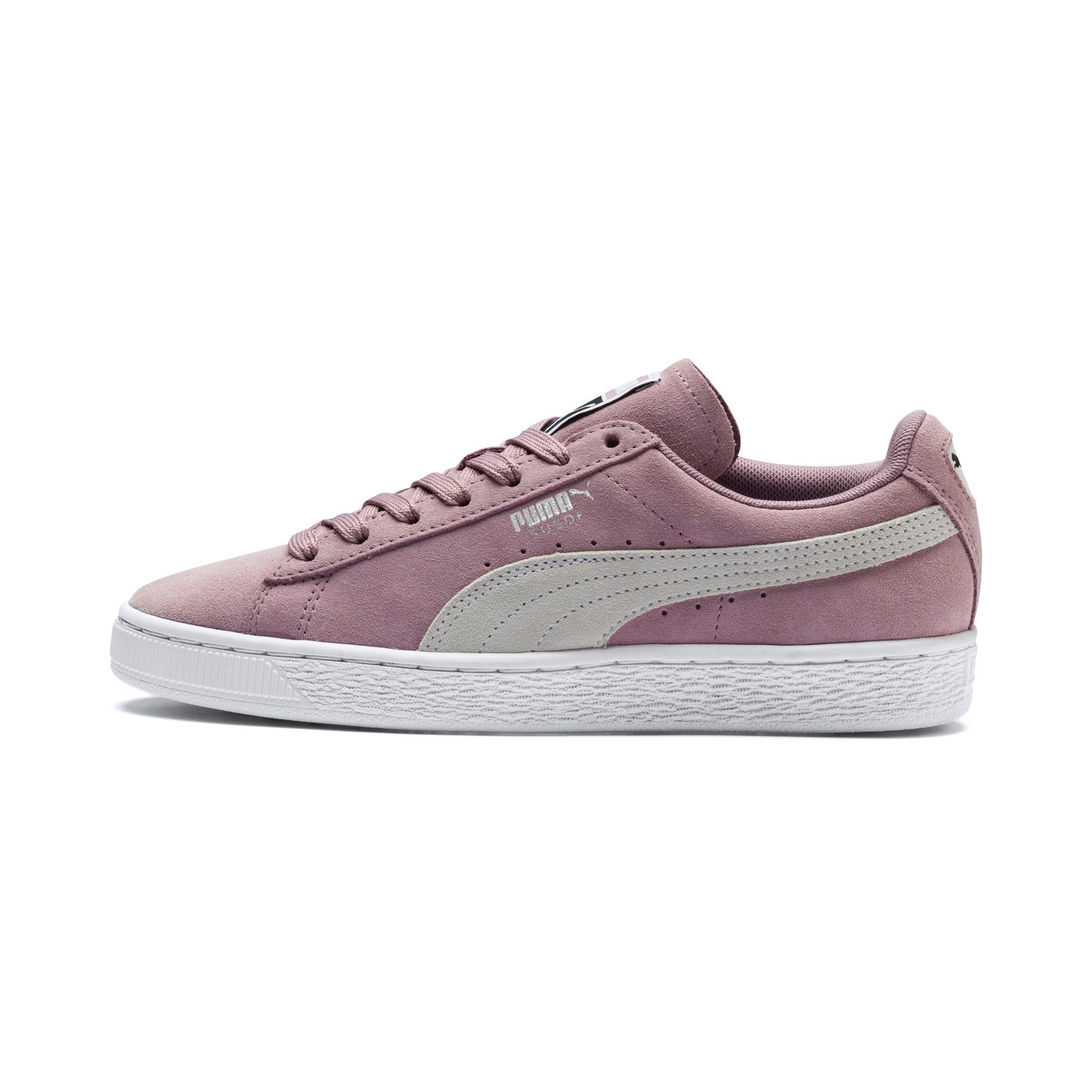 Thumbnail 1 of Suede Classic Women's Sneakers, Elderberry-Puma White, medium