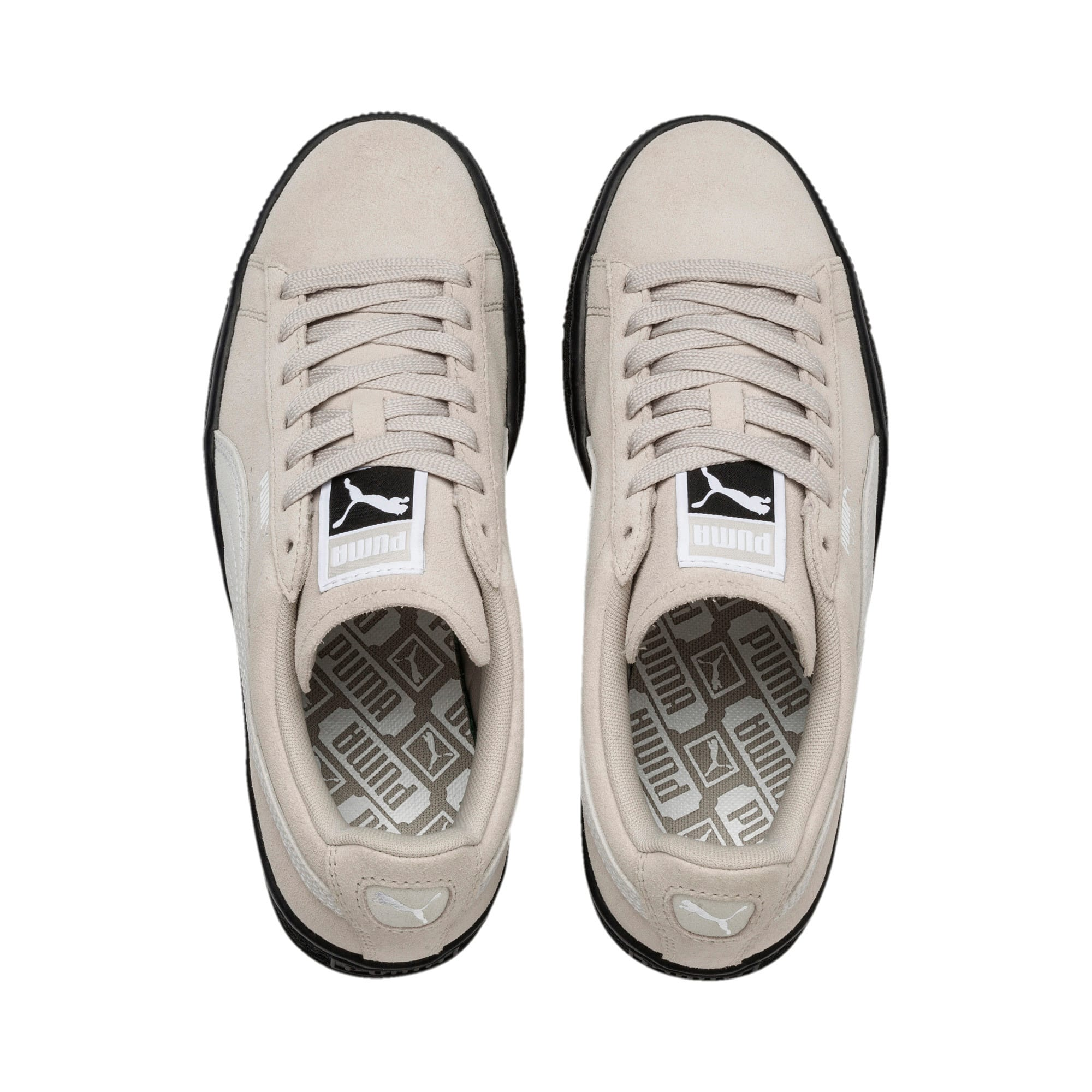 Thumbnail 6 of Suede Classic Women's Sneakers, Silver Gray-Puma White, medium