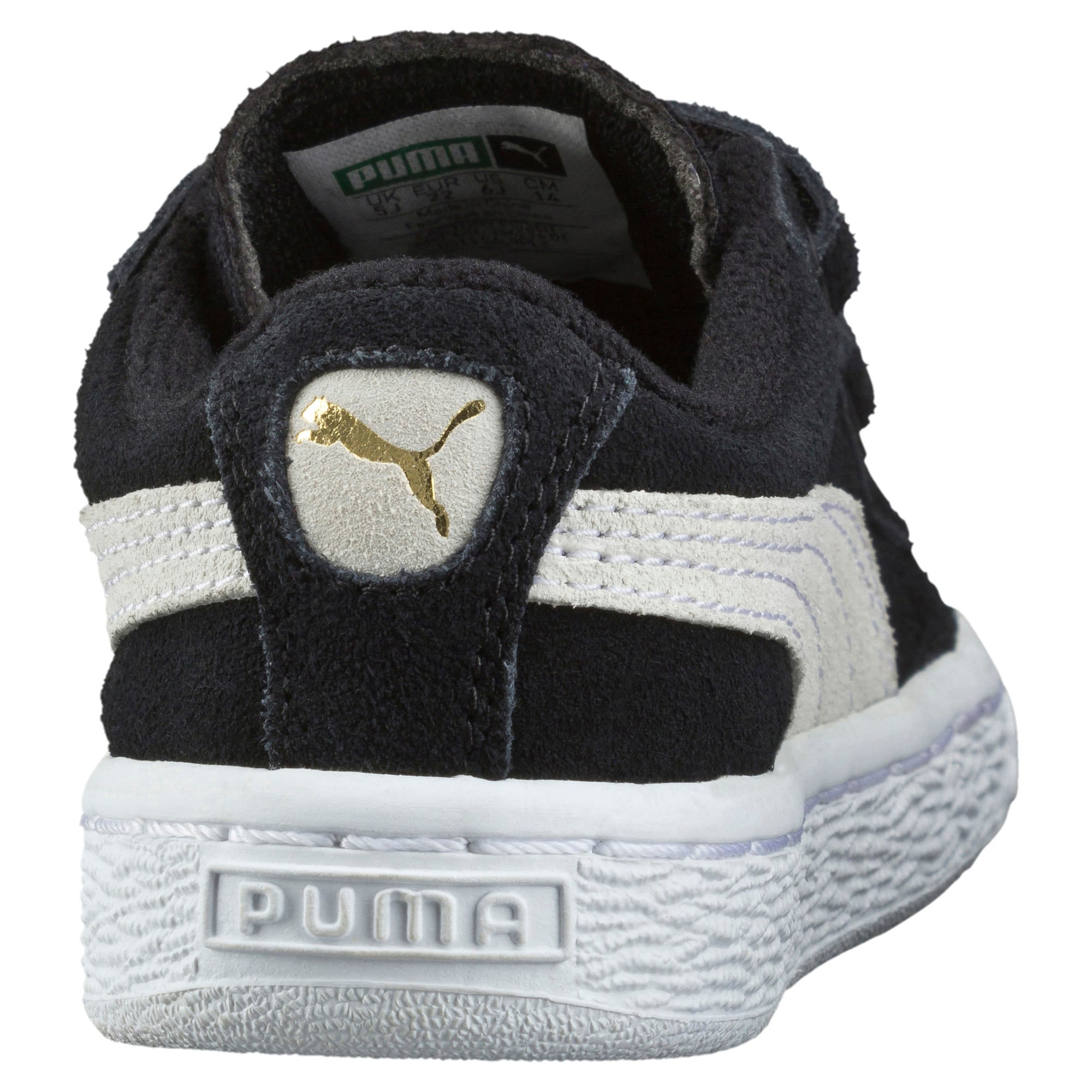 Suede AC Toddler Shoes, black-white, large