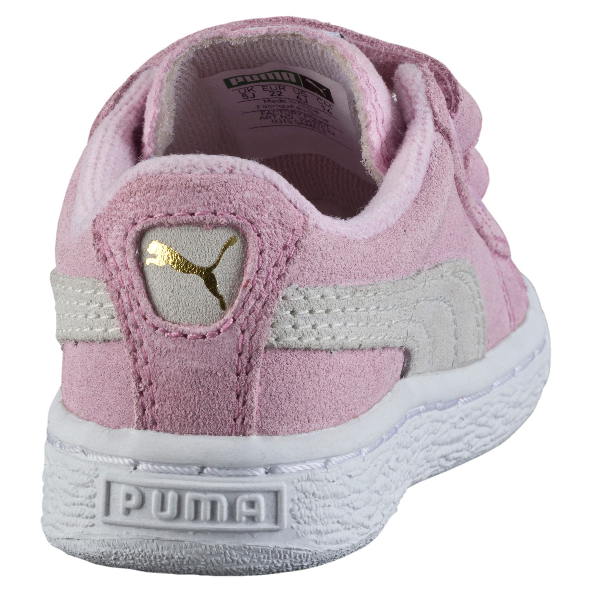 Thumbnail 3 of Suede AC Toddler Shoes, pink lady-team gold, medium