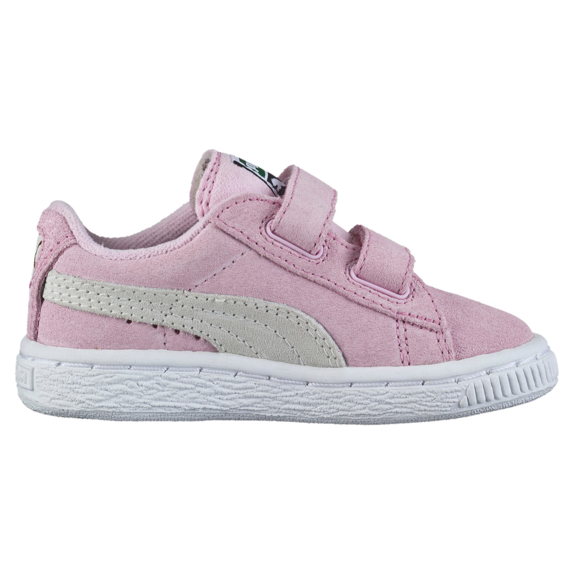 Thumbnail 4 of Suede AC Toddler Shoes, pink lady-team gold, medium
