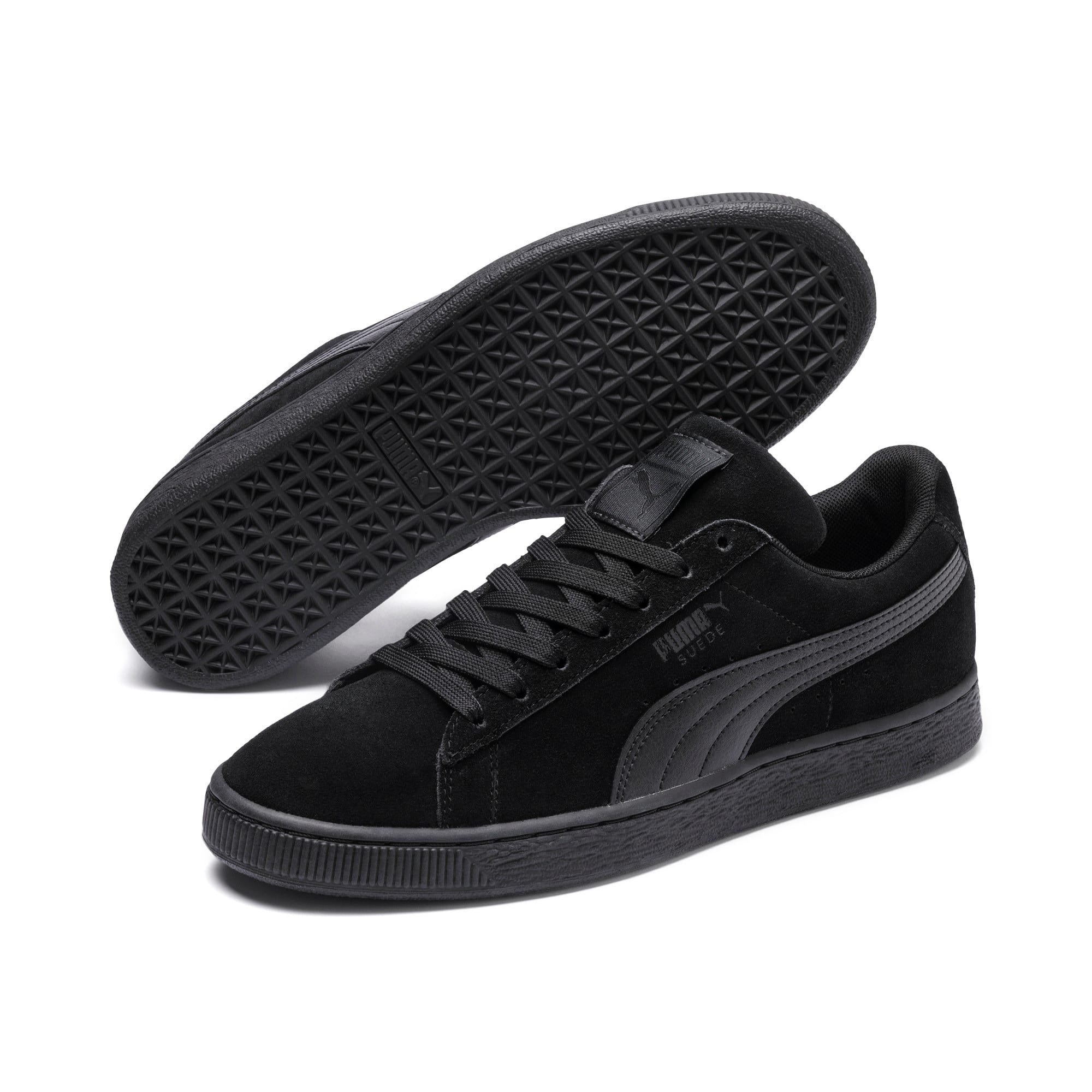 Thumbnail 2 of Suede Classic + LFS Men's Sneakers, black-black-black, medium