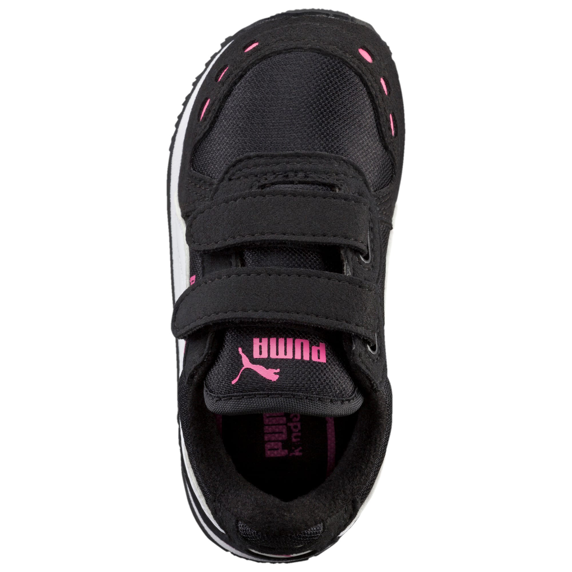 Thumbnail 5 of Cabana Racer Mesh AC Toddler Shoes, black-white-carmine rose, medium