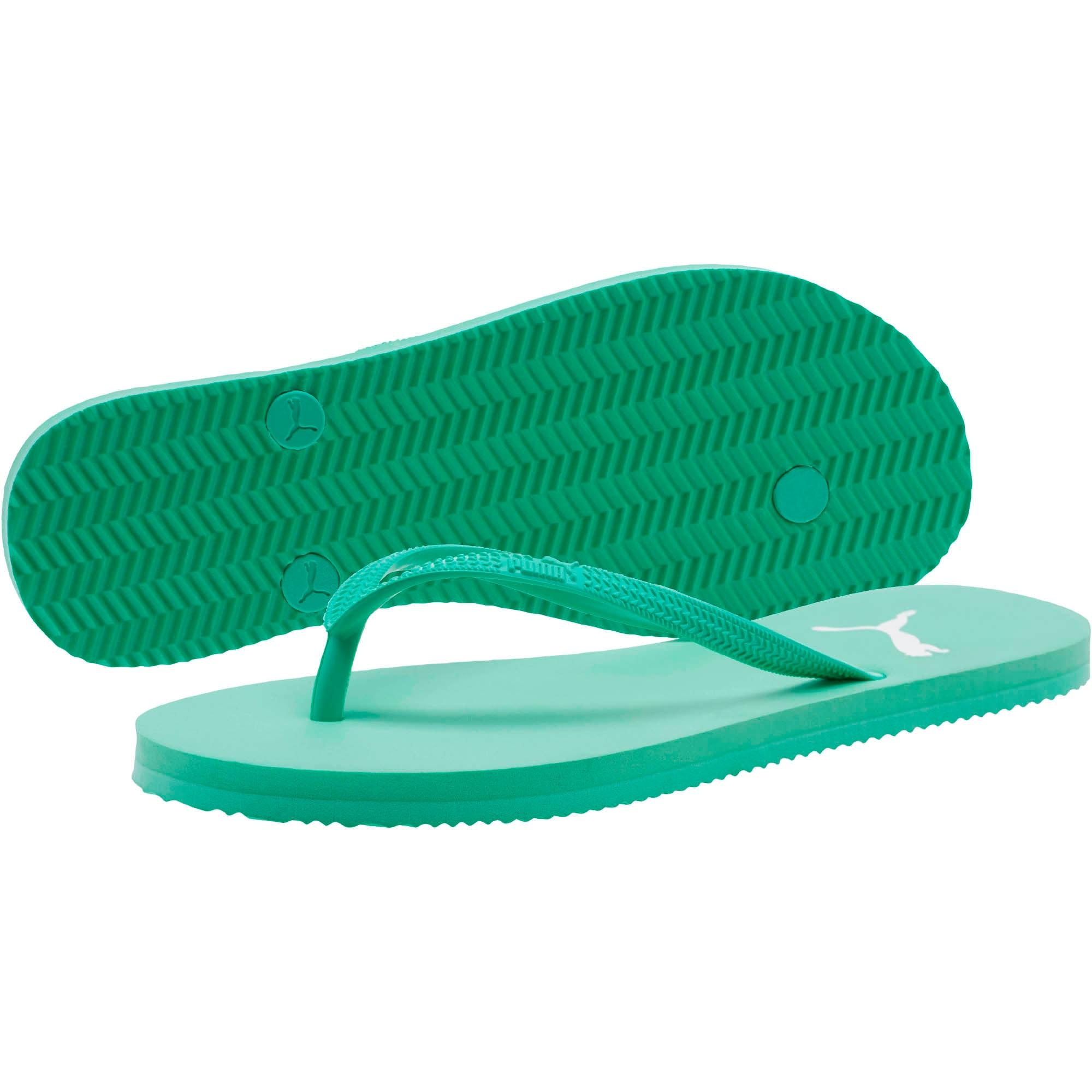 Miniatura 2 de Sandalias First Flip para mujer, Biscay Green-Puma White, mediano