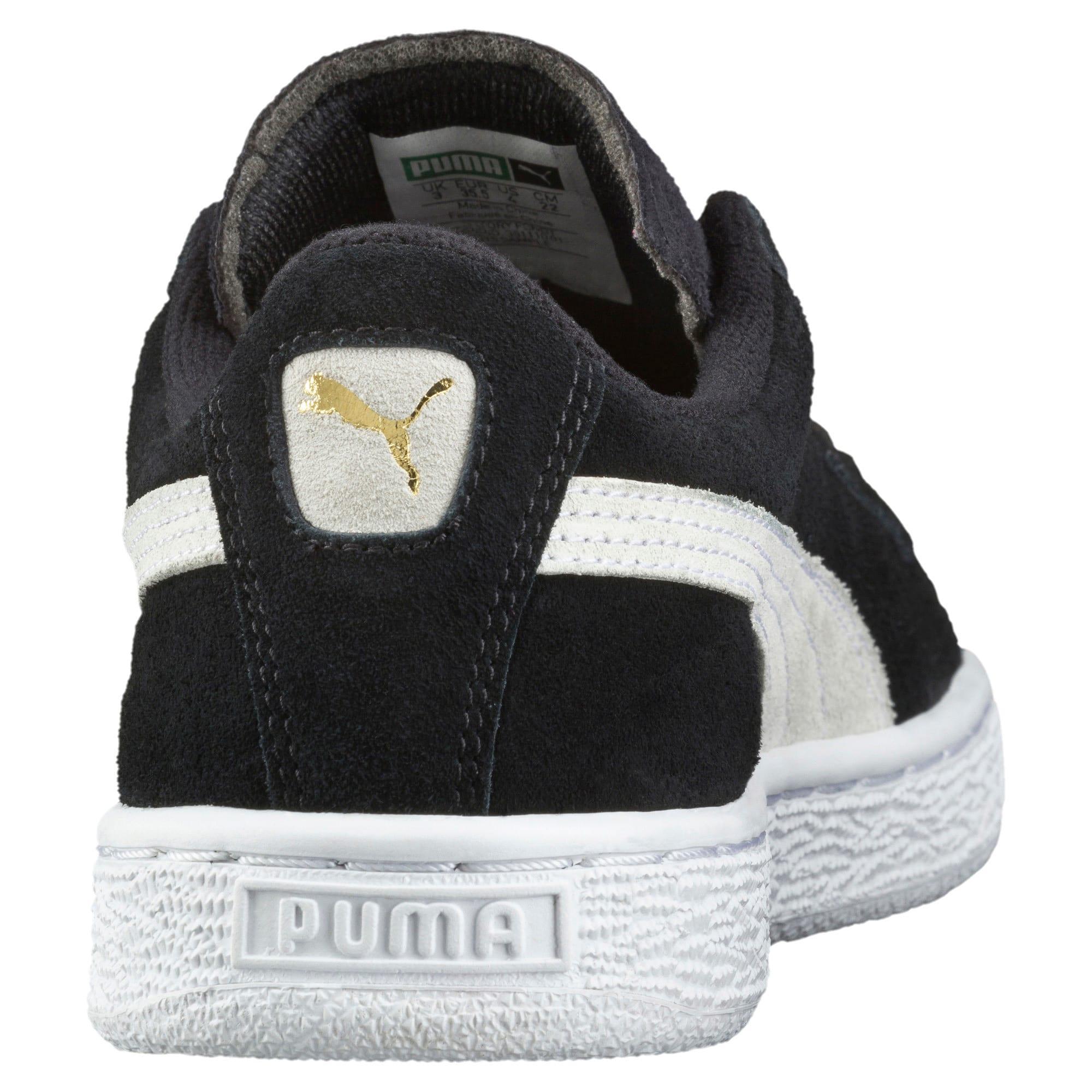 Imagen en miniatura 4 de Zapatillas de niño Suede, Puma Black-Puma White, mediana