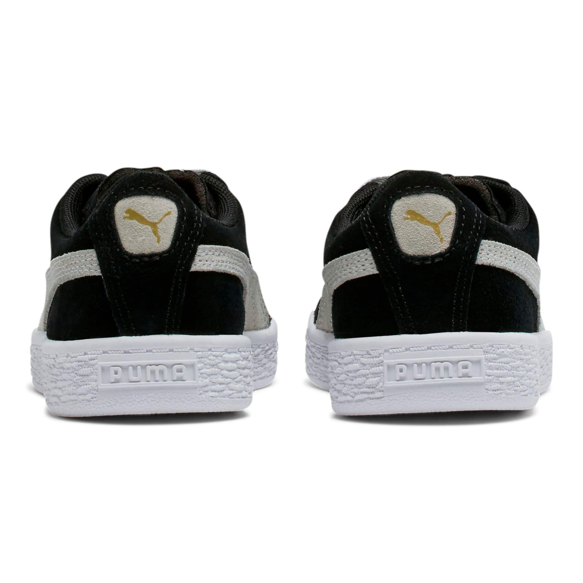 Thumbnail 4 of Suede Little Kids' Shoes, Puma Black-Puma White, medium