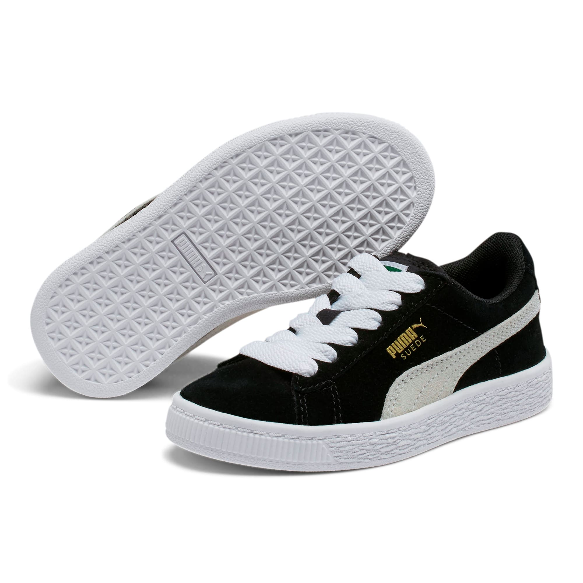 Thumbnail 2 of Suede Little Kids' Shoes, Puma Black-Puma White, medium