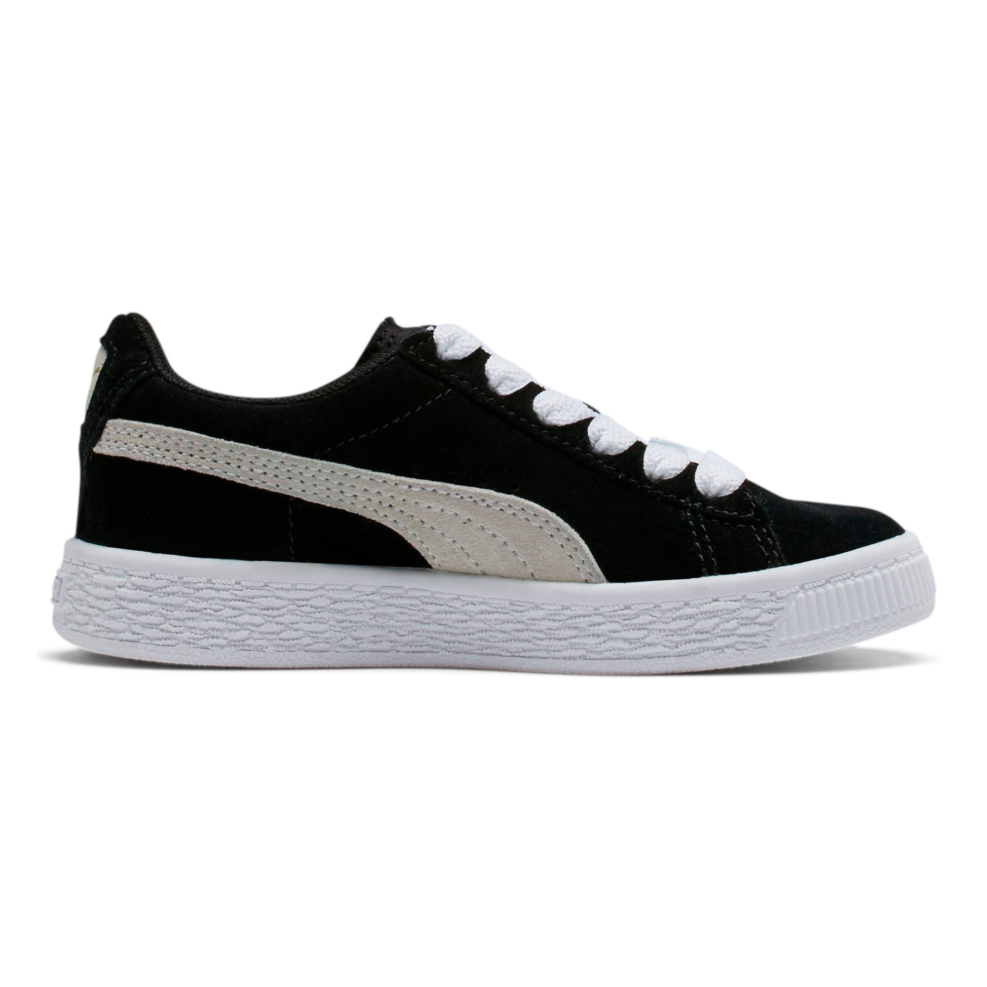 Thumbnail 5 of Suede Little Kids' Shoes, Puma Black-Puma White, medium