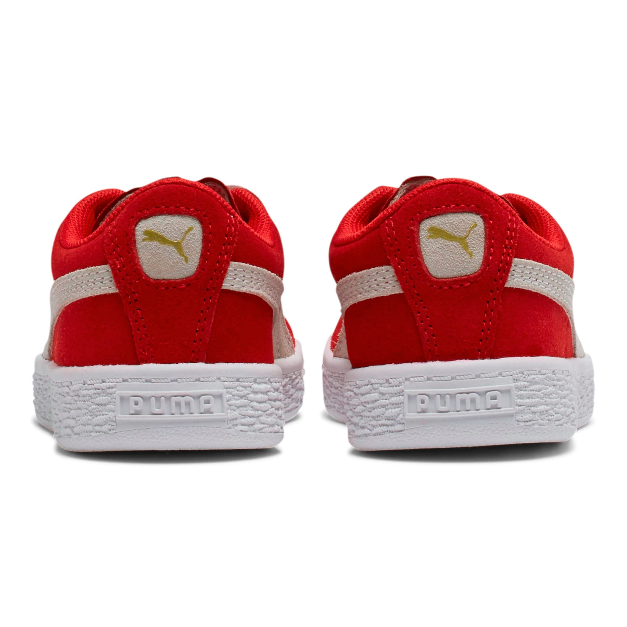 Thumbnail 4 of Suede Little Kids' Shoes, high risk red-white, medium