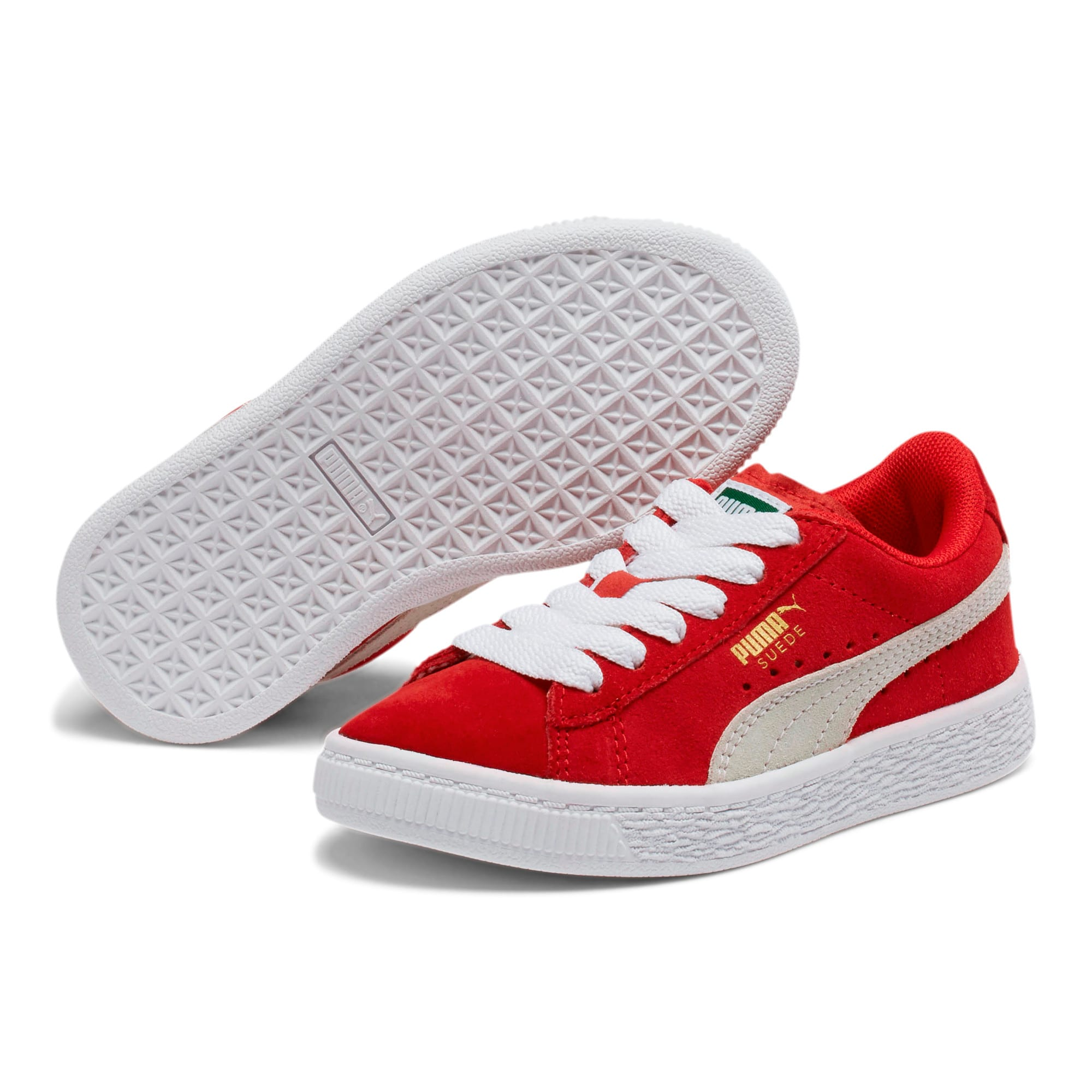 Thumbnail 2 of Suede Little Kids' Shoes, high risk red-white, medium