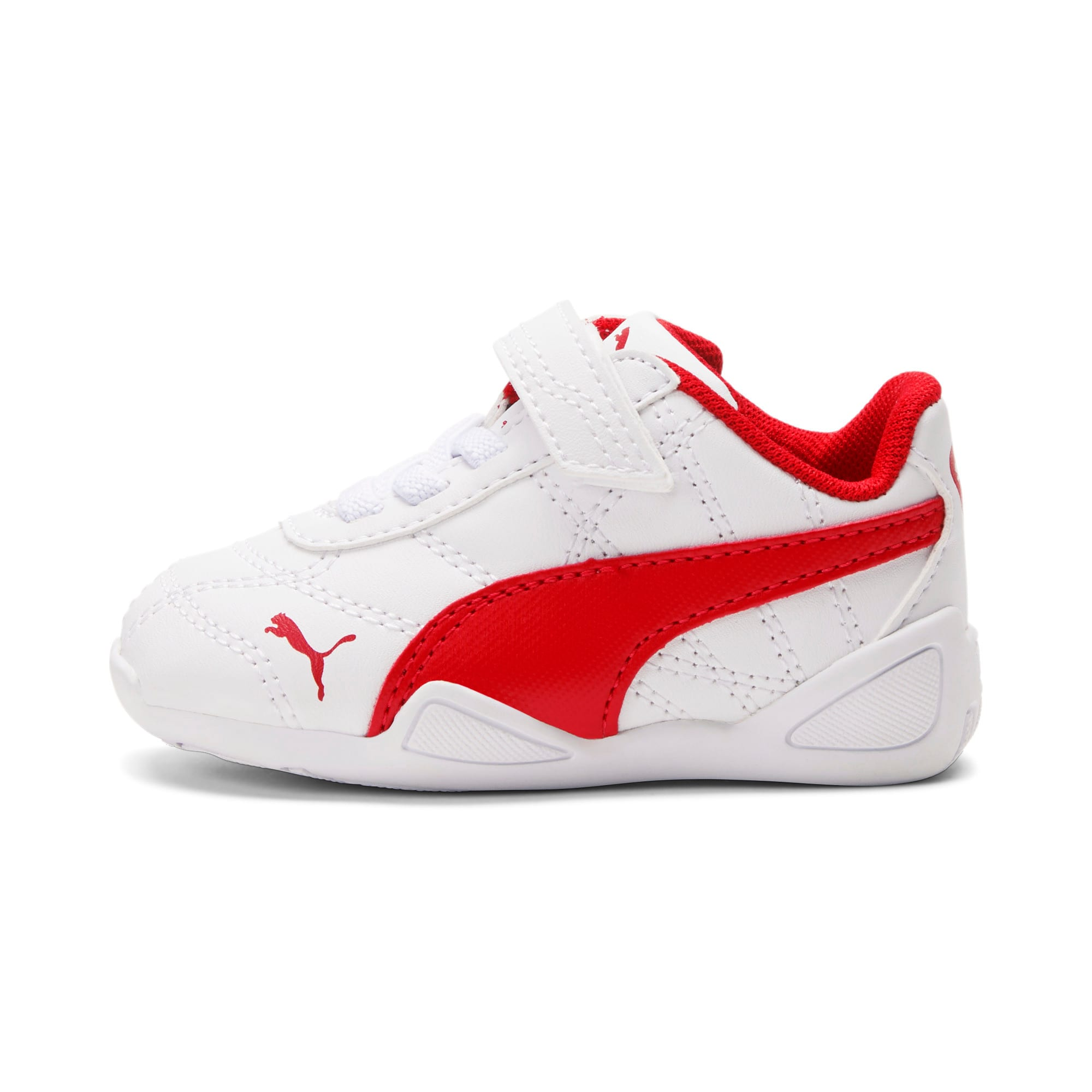 Miniatura 1 de Zapatos Tune Cat3AC para bebés, Puma White-Flame Scarlet, mediano