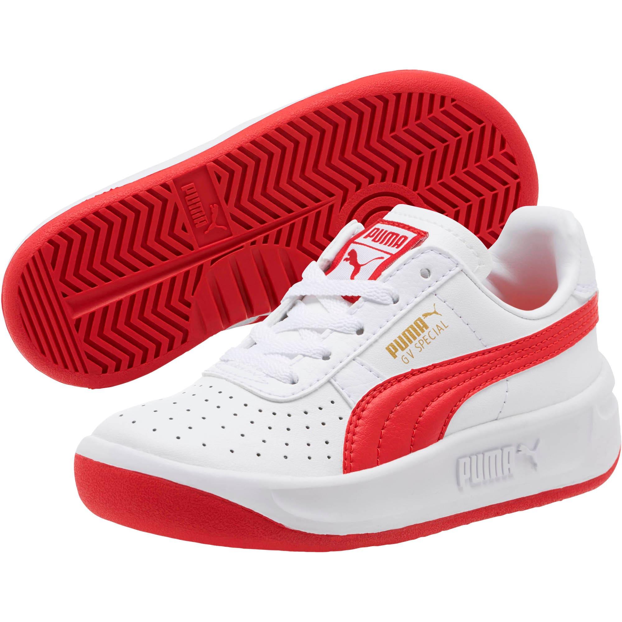 Thumbnail 2 of GV Special Little Kids' Shoes, Puma White-Ribbon Red, medium