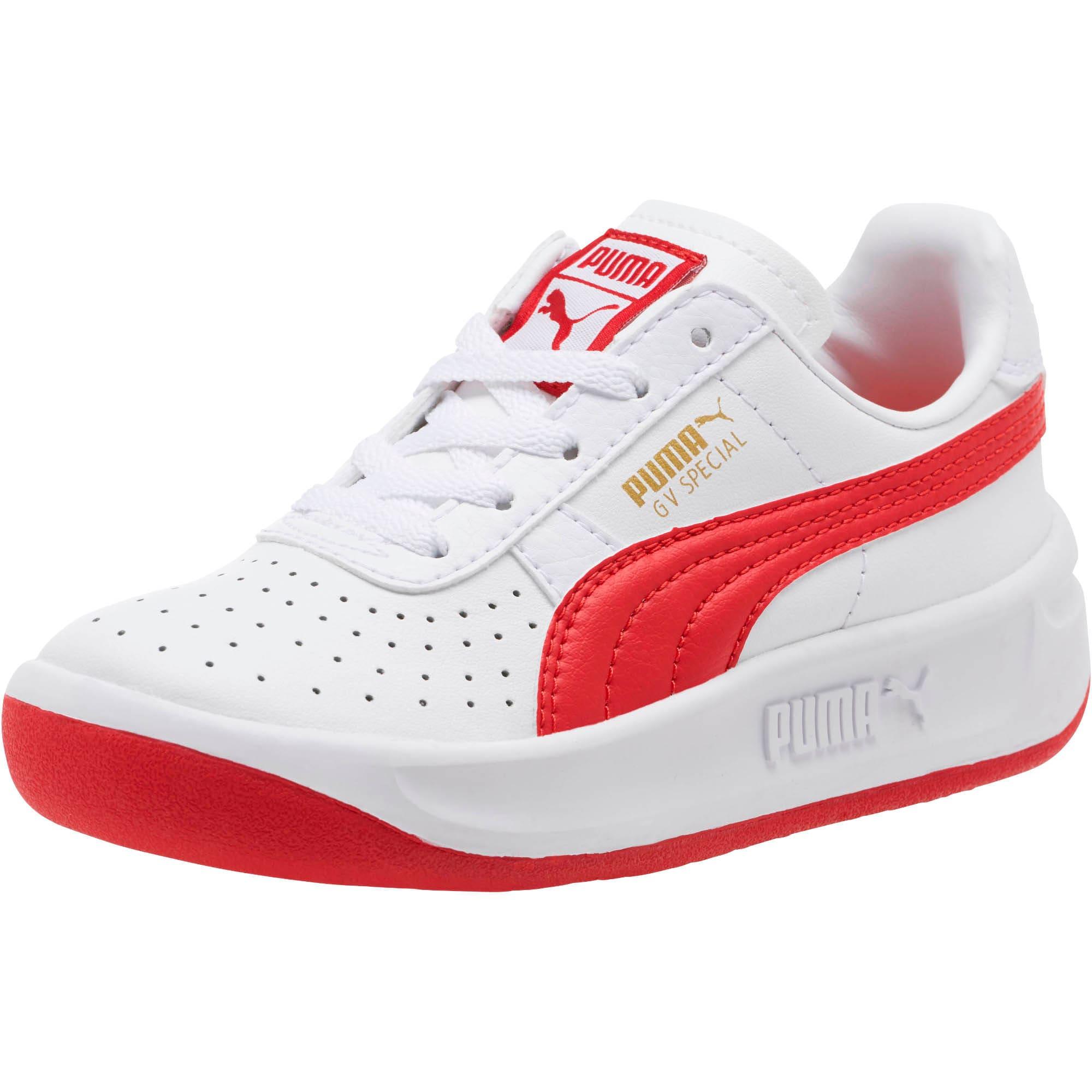 Thumbnail 1 of GV Special Little Kids' Shoes, Puma White-Ribbon Red, medium