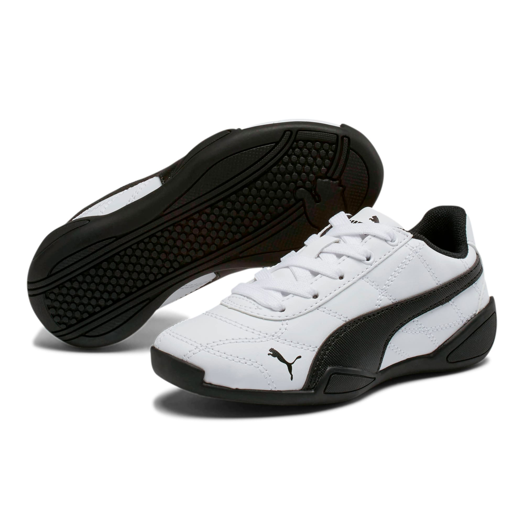 Thumbnail 2 of Tune Cat 3 Little Kids' Shoes, Puma White-Puma Black, medium