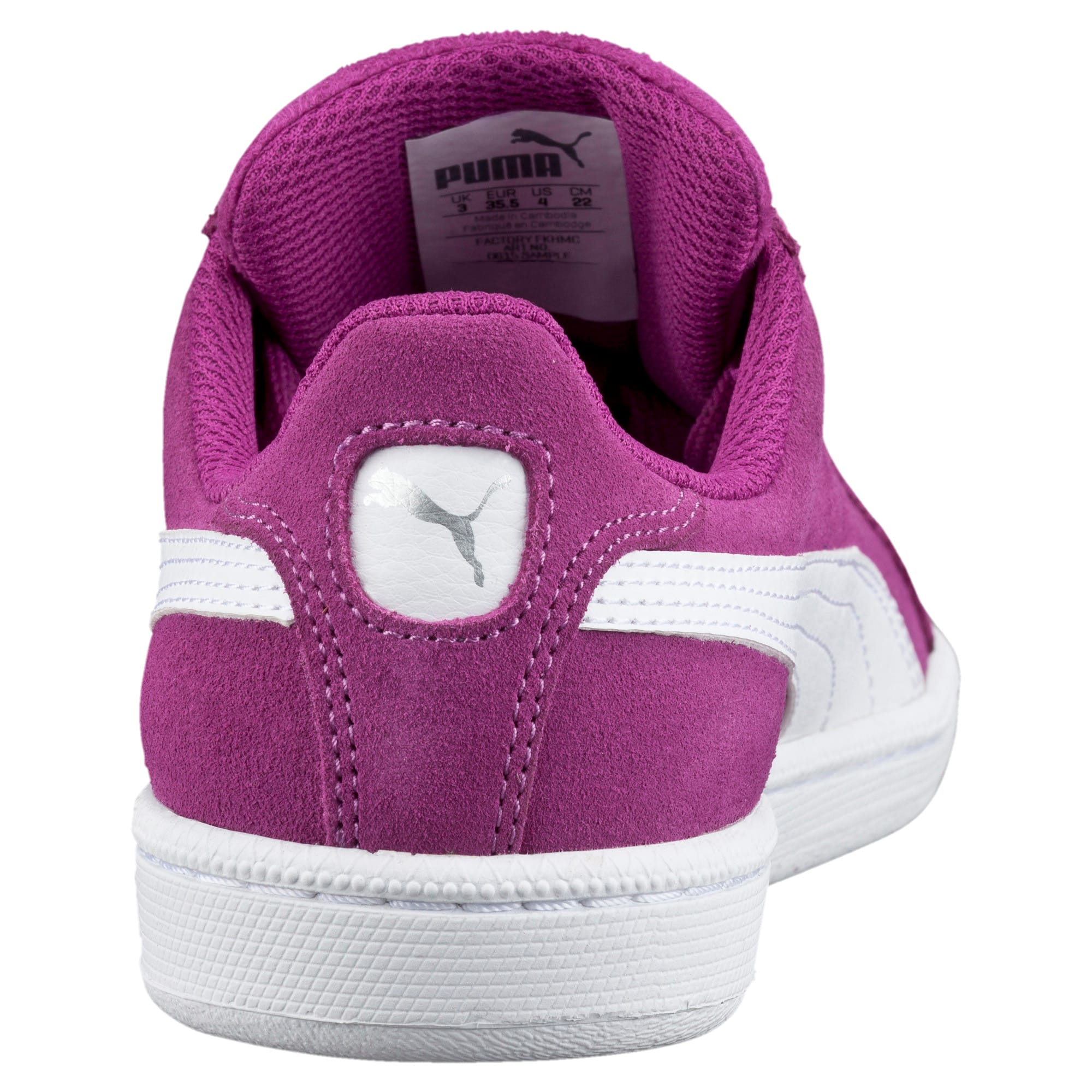 Thumbnail 4 of Smash Suede Sneakers JR, Hollyhock-Puma White, medium