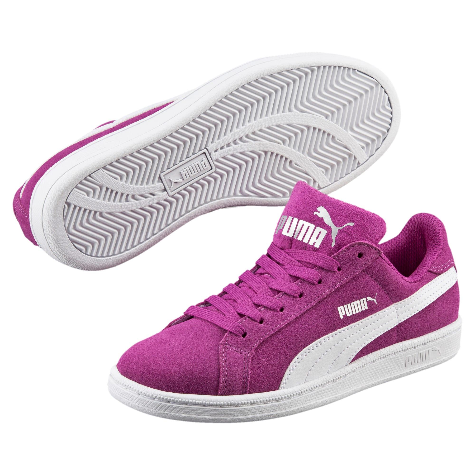 Thumbnail 2 of Smash Suede Sneakers JR, Hollyhock-Puma White, medium