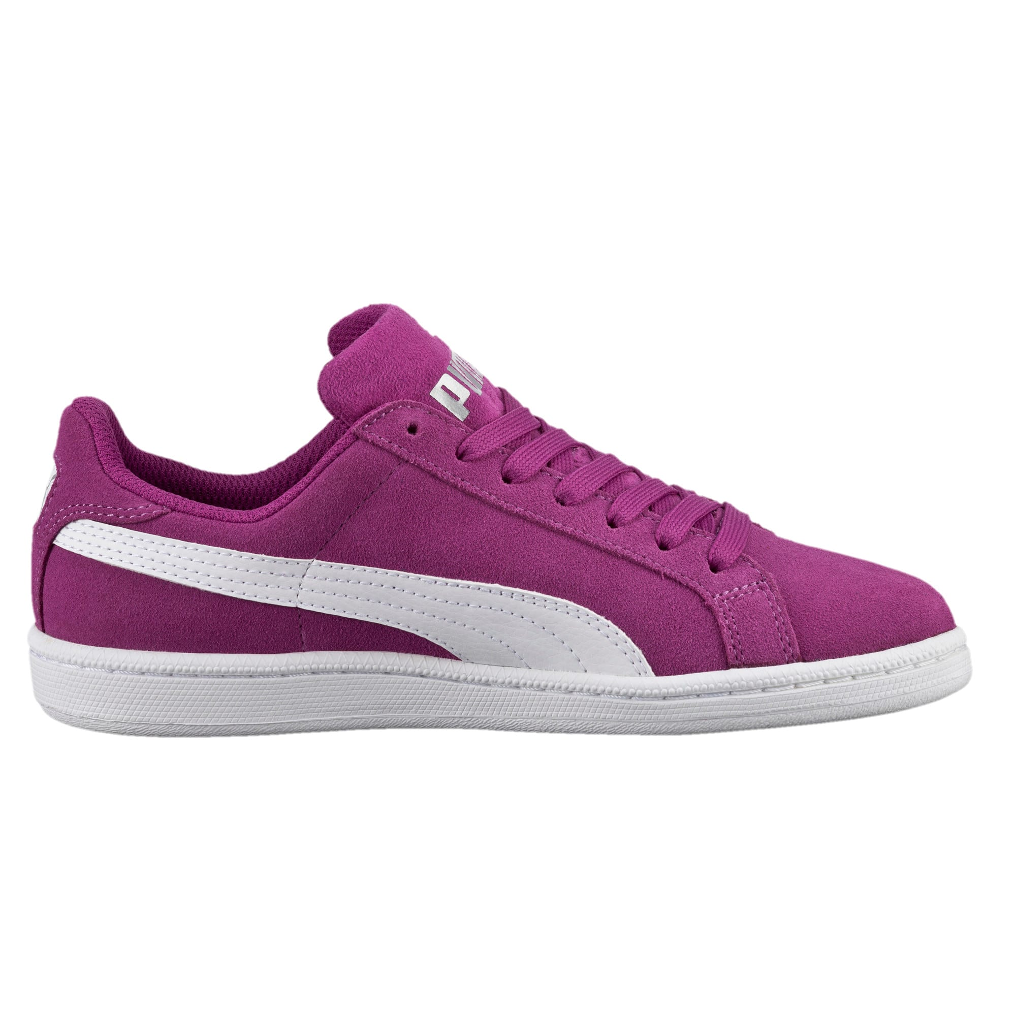 Thumbnail 3 of Smash Suede Sneakers JR, Hollyhock-Puma White, medium