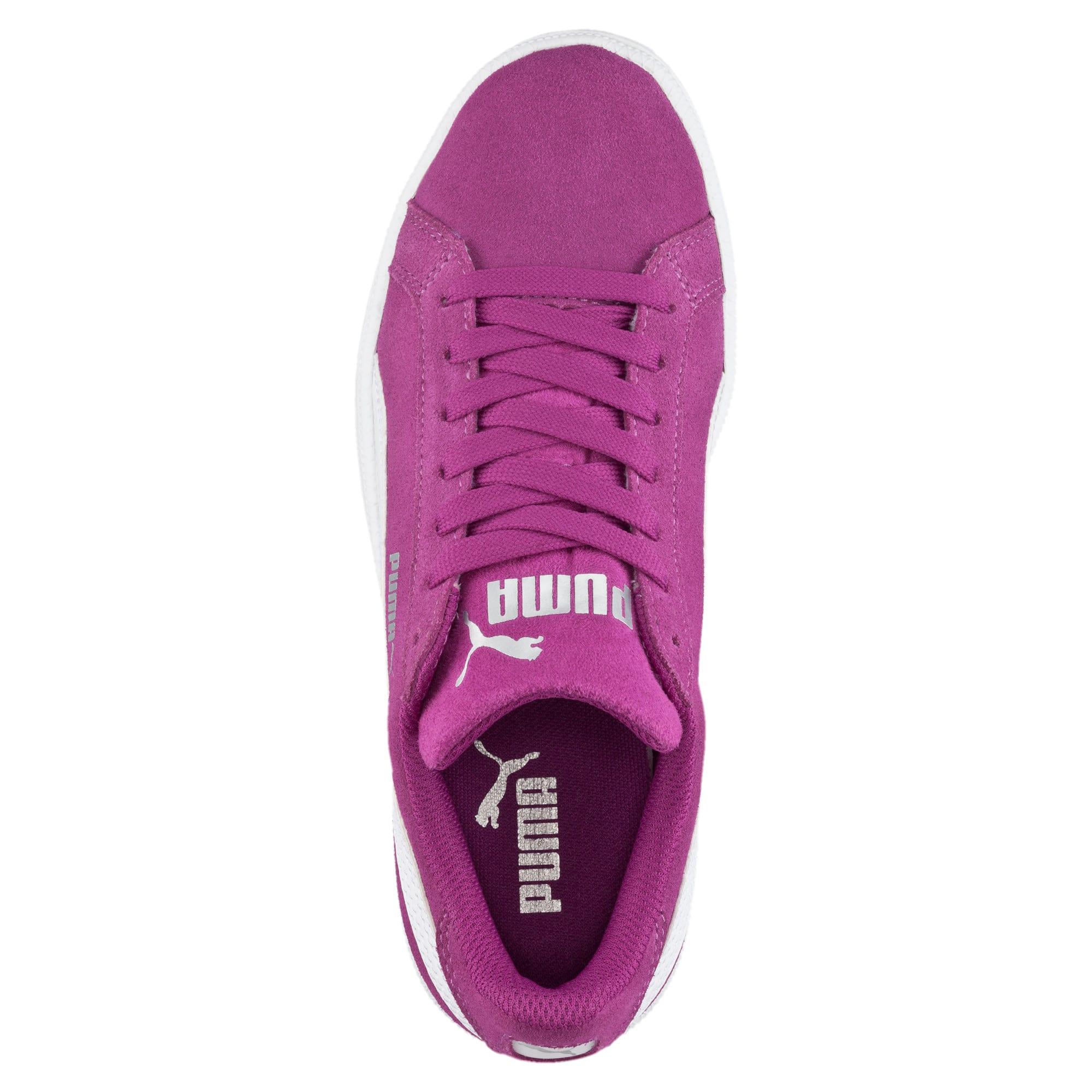 Thumbnail 5 of Smash Suede Sneakers JR, Hollyhock-Puma White, medium