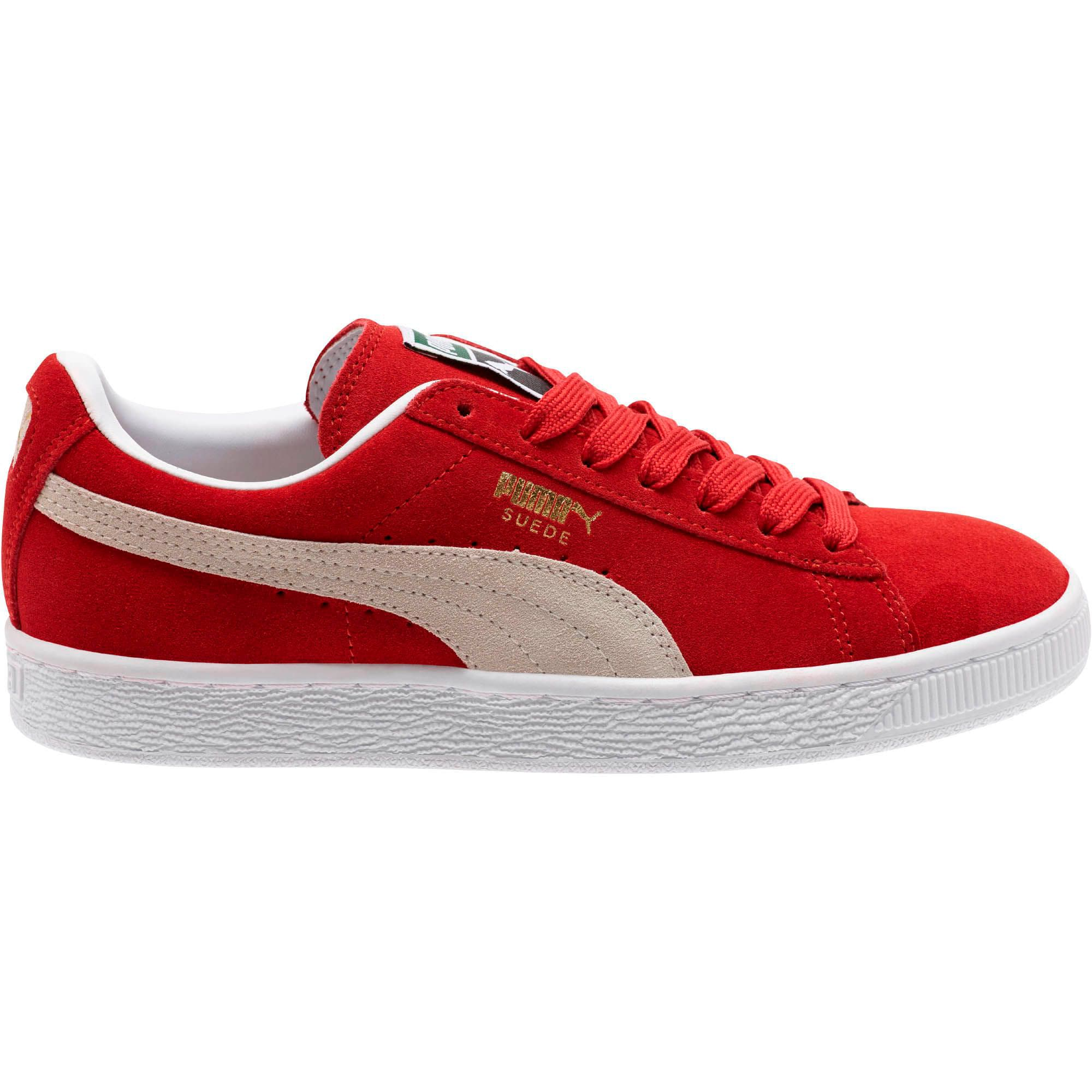 Thumbnail 7 of Suede Classic + Women's Sneakers, high risk red-white, medium