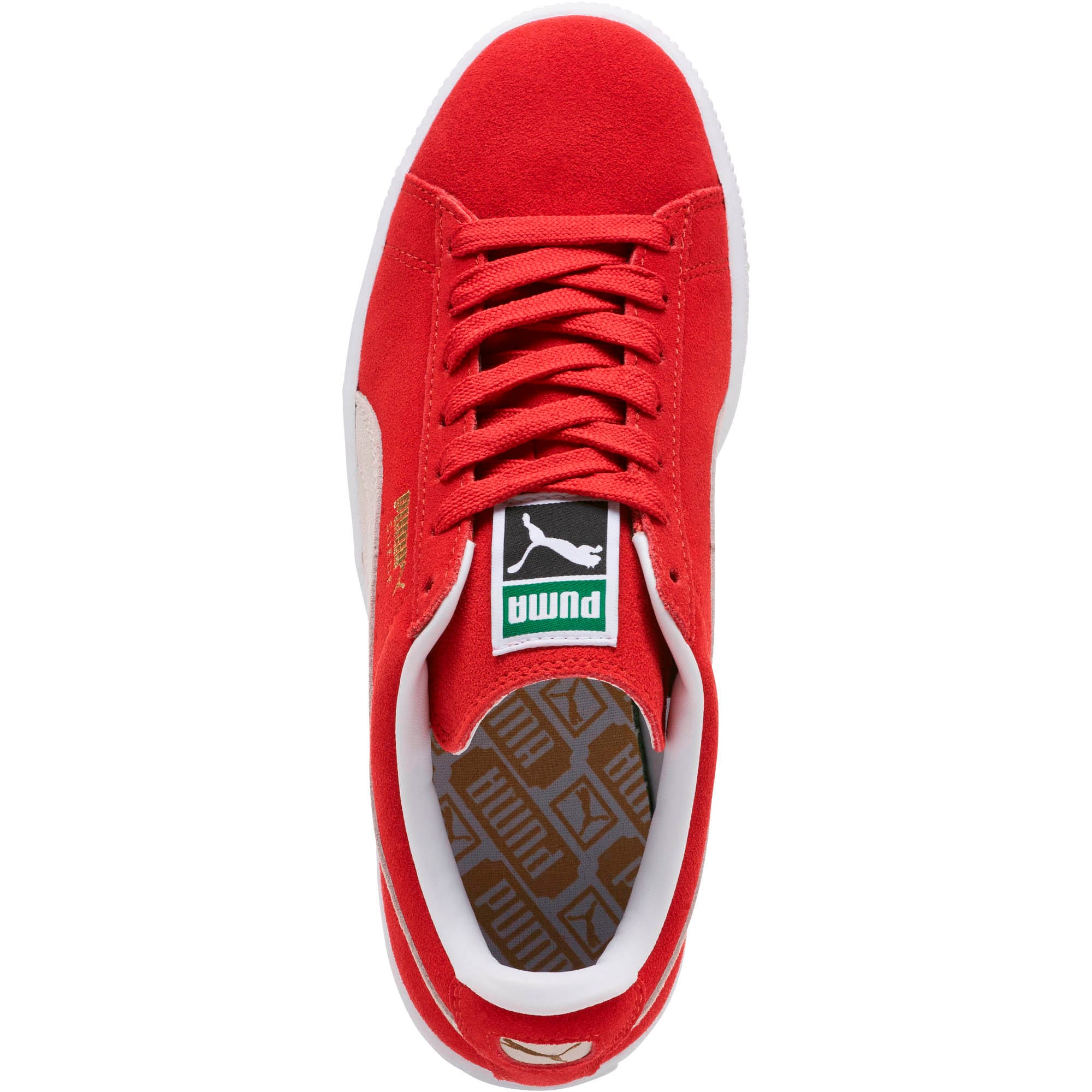Thumbnail 6 of Suede Classic + Women's Sneakers, high risk red-white, medium