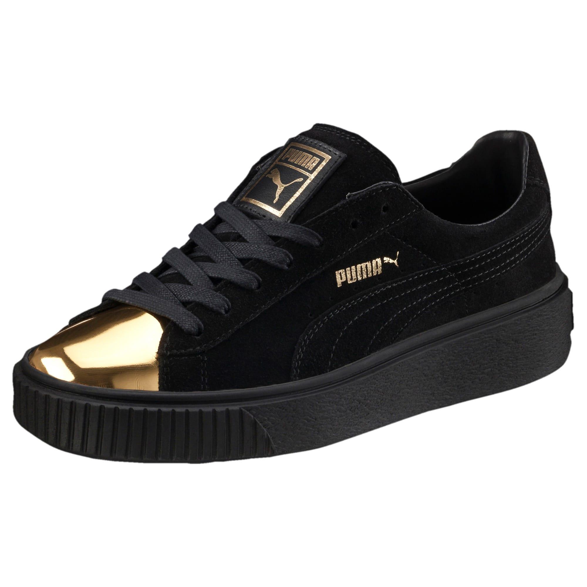 Puma Suede Platform Gold Speckled Black