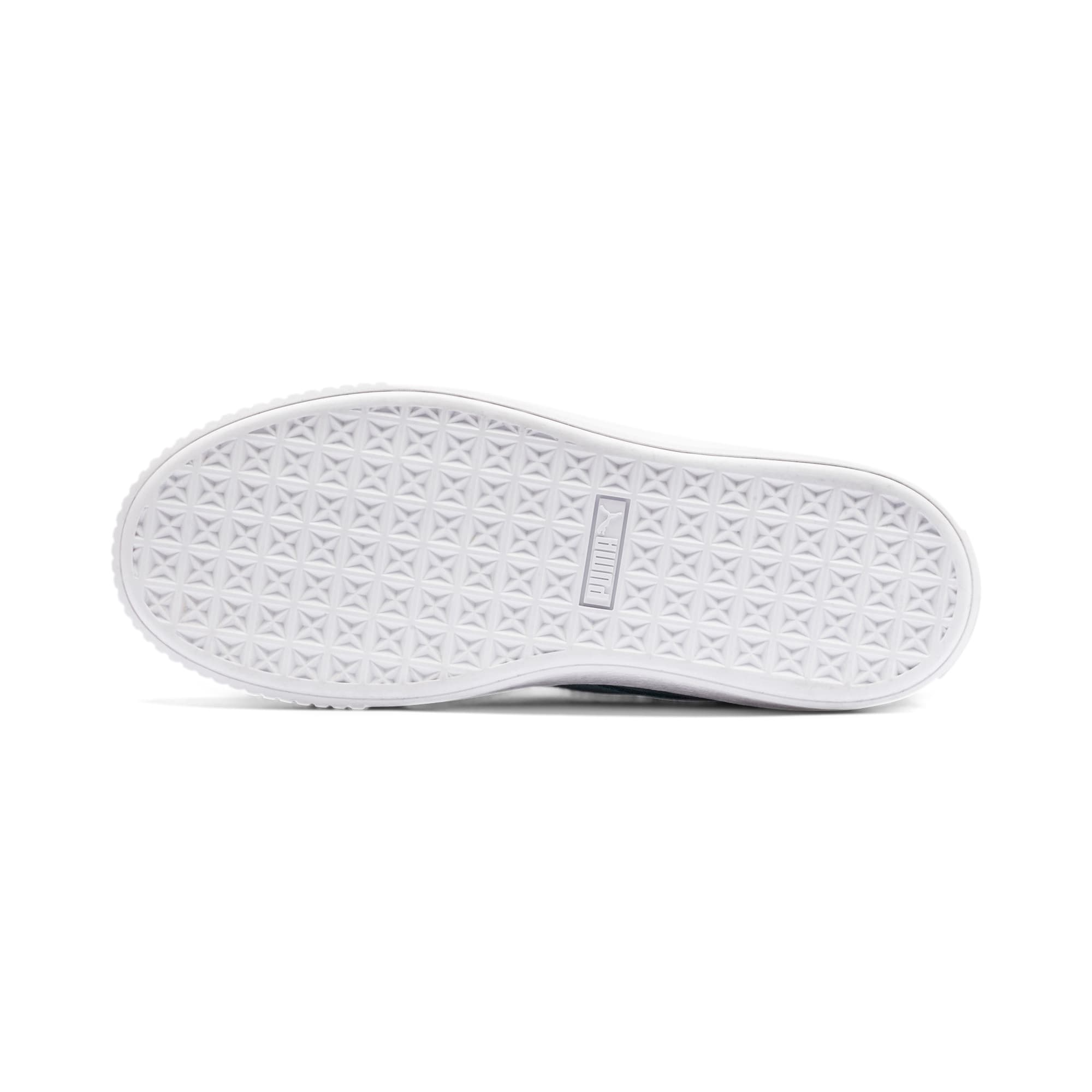 Thumbnail 4 of Suede Platform Women's Sneakers, Bluestone-Puma Team Gold, medium