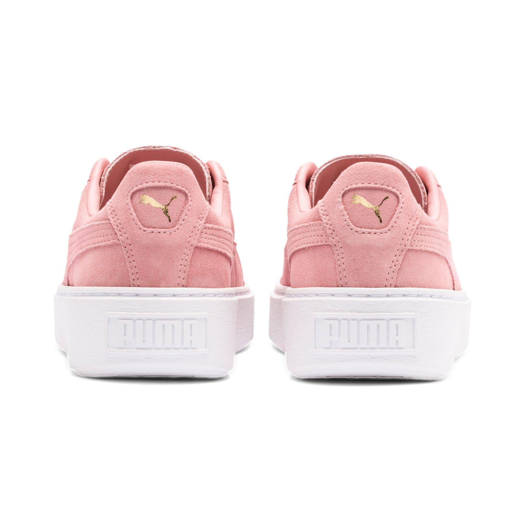 Thumbnail 5 of Suede Platform Women's Sneakers, Bridal Rose-Puma Team Gold, medium