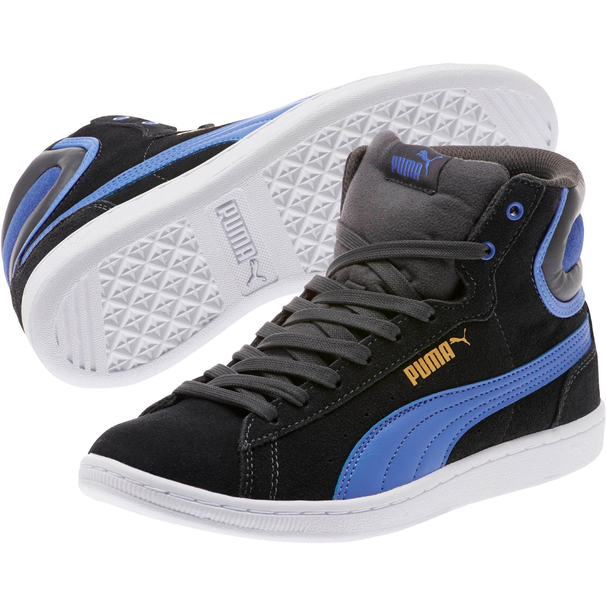 Thumbnail 2 of Vikky Mid Women's High Top Sneakers, Asphalt-Baja Blue, medium