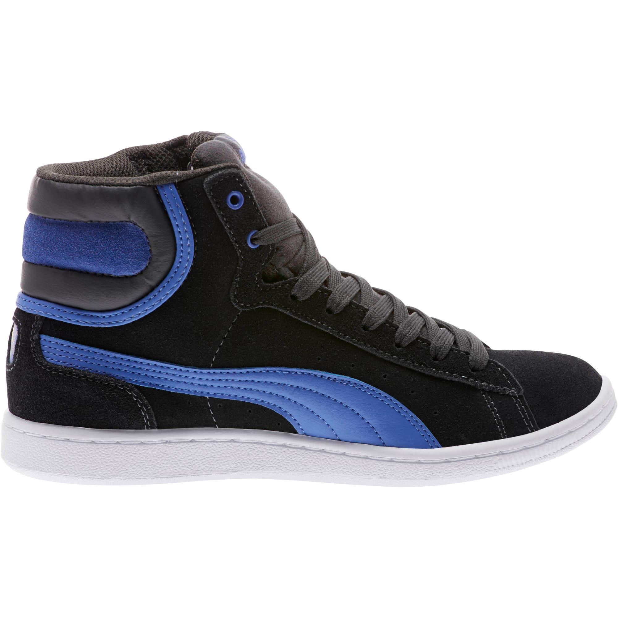 Thumbnail 3 of Vikky Mid Women's High Top Sneakers, Asphalt-Baja Blue, medium