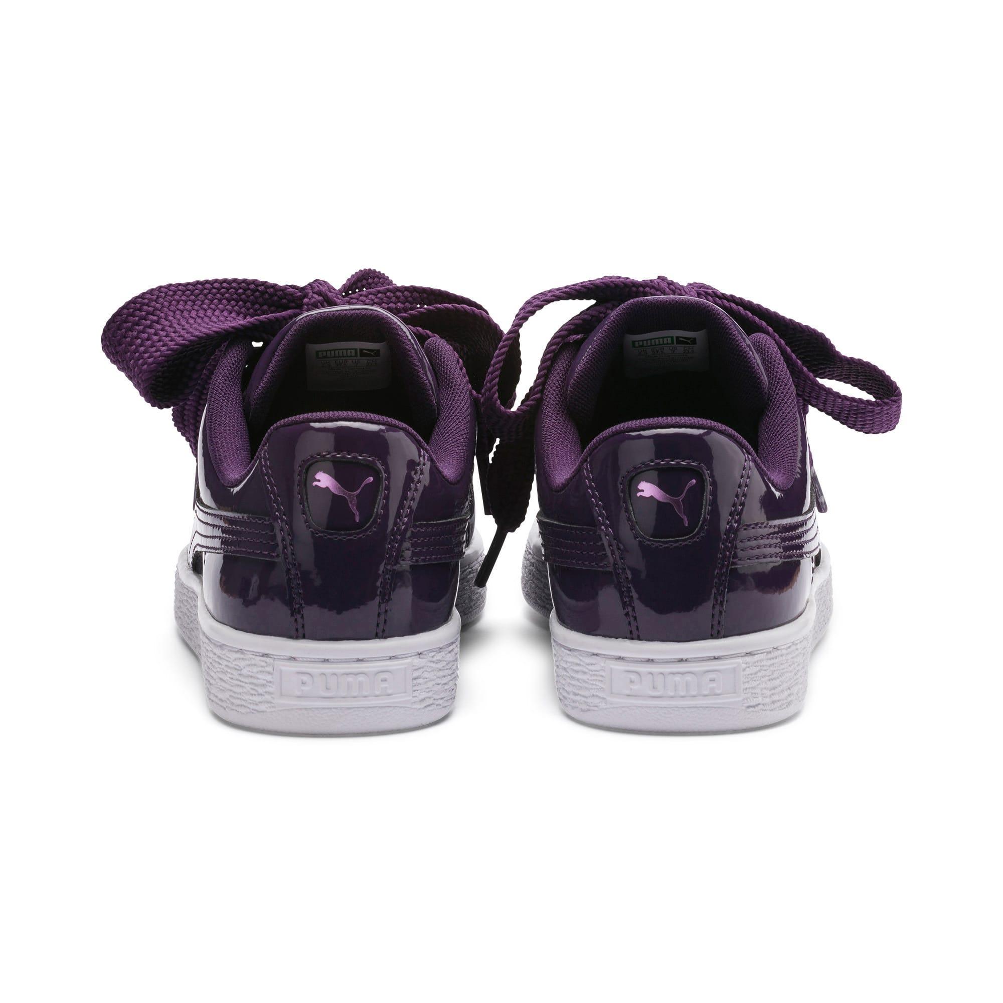 Thumbnail 4 of Basket Heart Patent Women's Sneakers, Indigo-Puma White, medium
