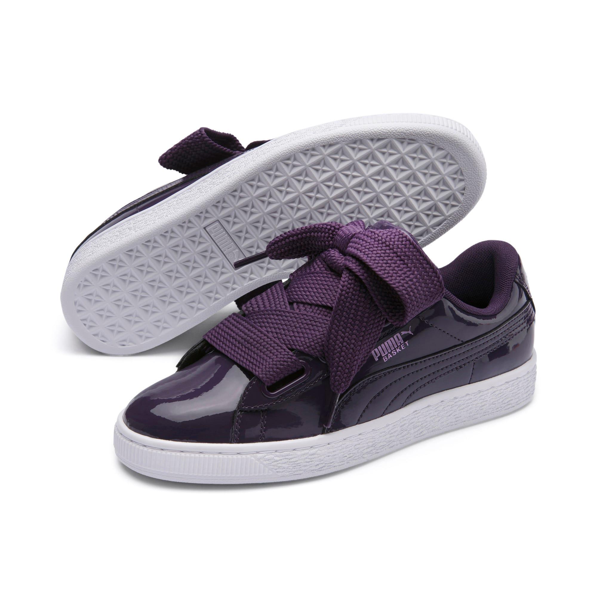 Thumbnail 2 of Basket Heart Patent Women's Sneakers, Indigo-Puma White, medium