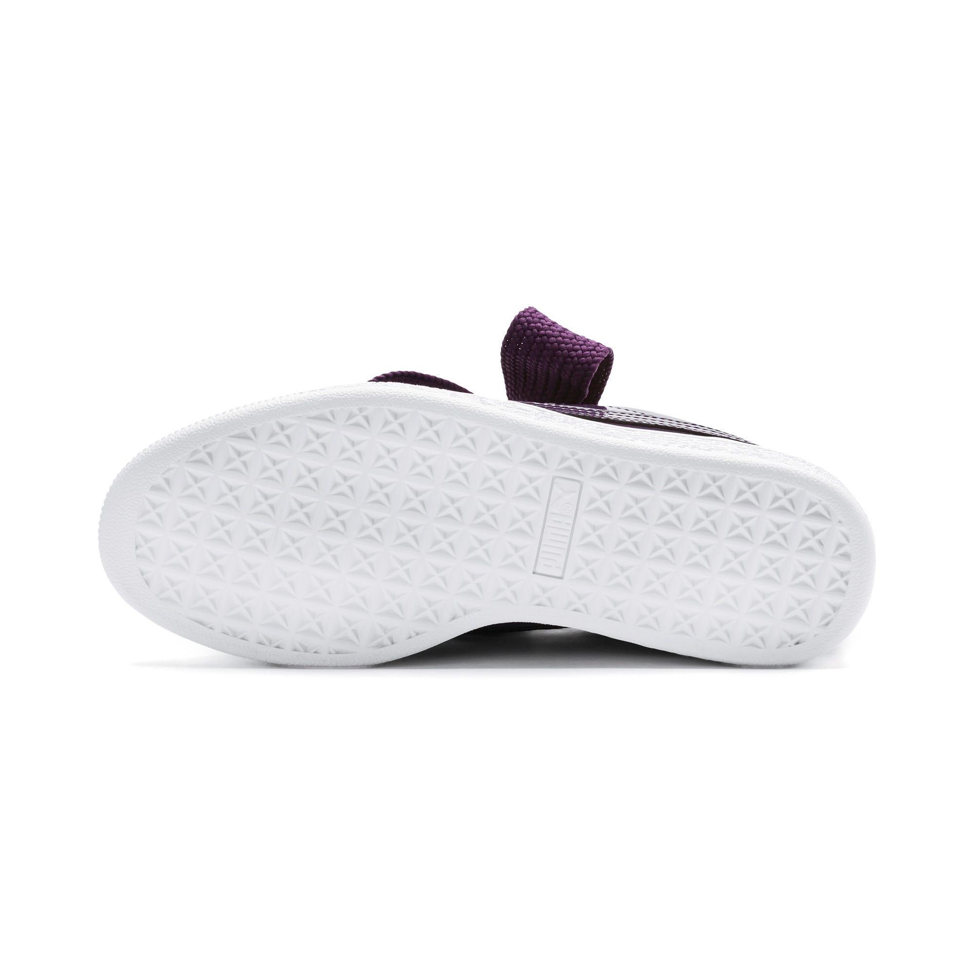 Thumbnail 3 of Basket Heart Patent Women's Sneakers, Indigo-Puma White, medium