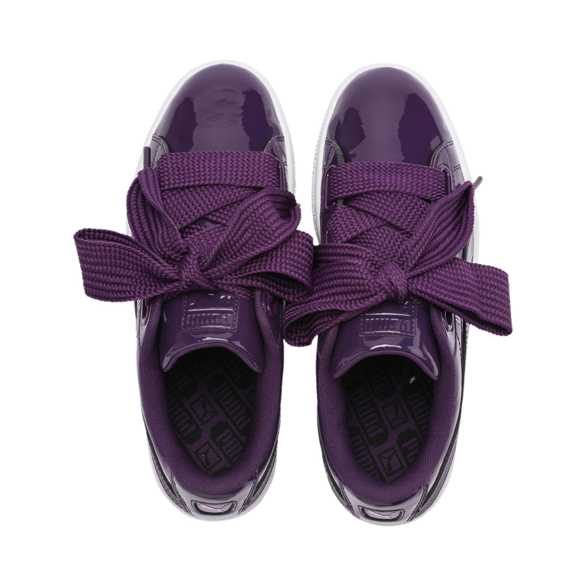 Thumbnail 6 of Basket Heart Patent Women's Sneakers, Indigo-Puma White, medium