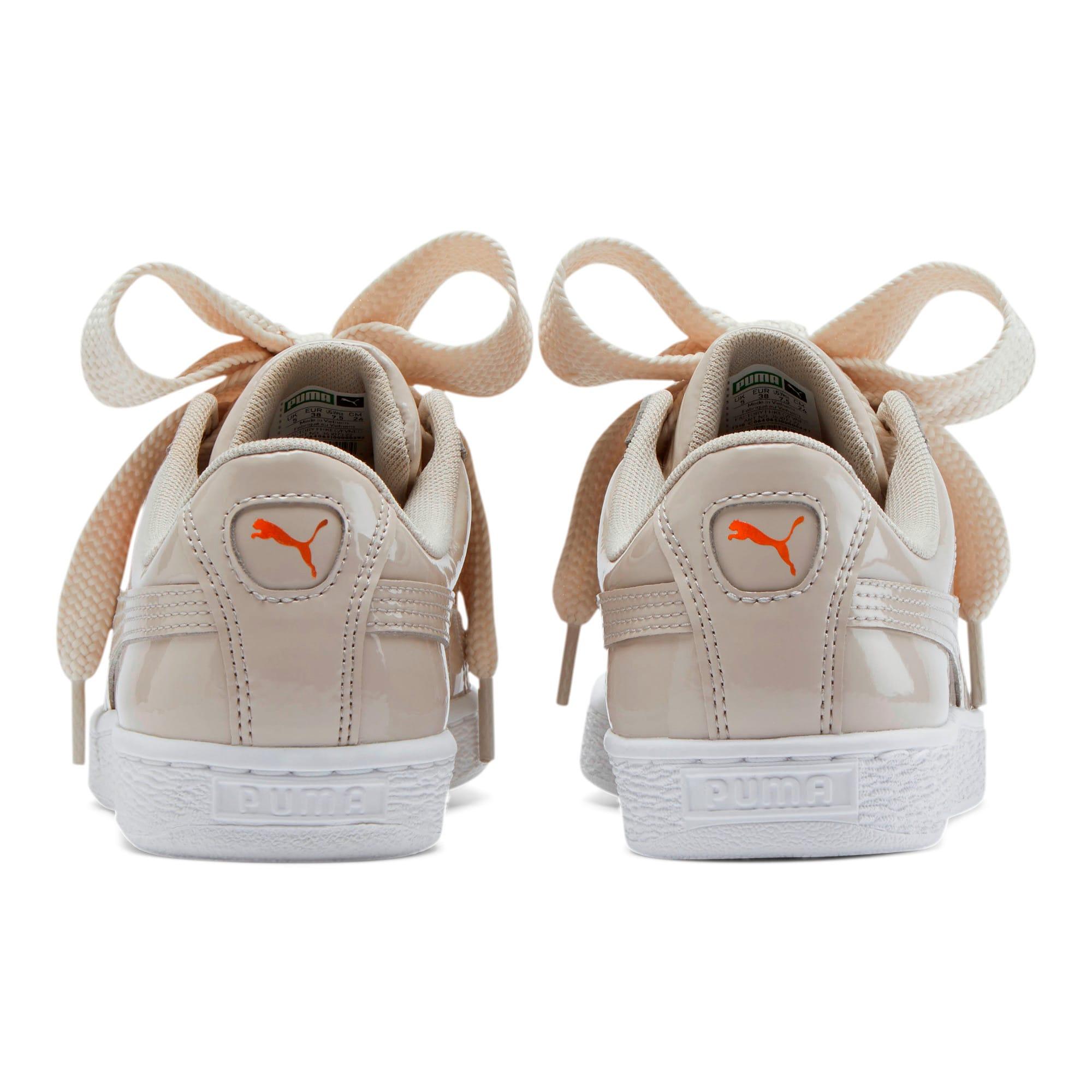Thumbnail 3 of Basket Heart Patent Women's Sneakers, Silver Gray-Silver Gray, medium