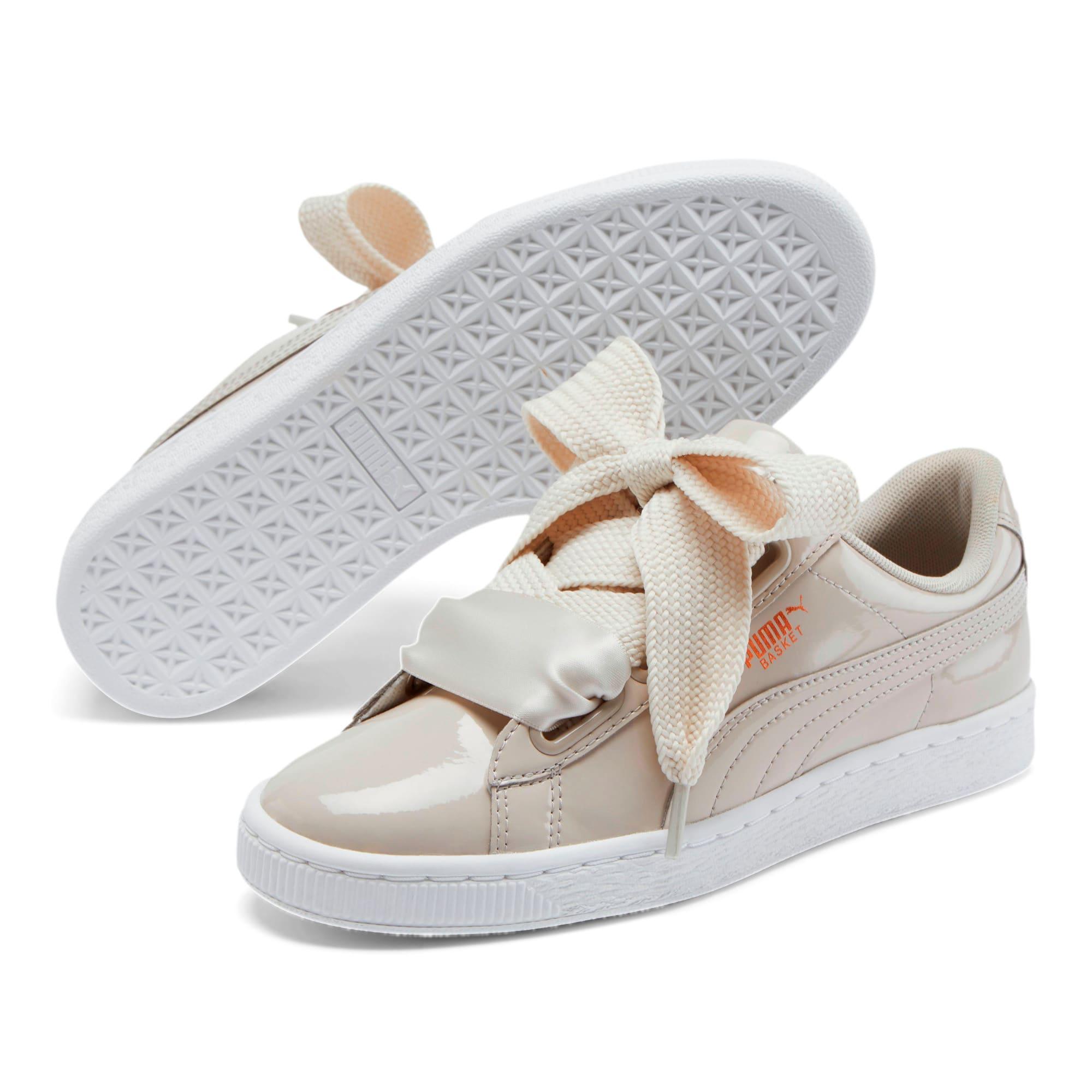 Thumbnail 2 of Basket Heart Patent Women's Sneakers, Silver Gray-Silver Gray, medium