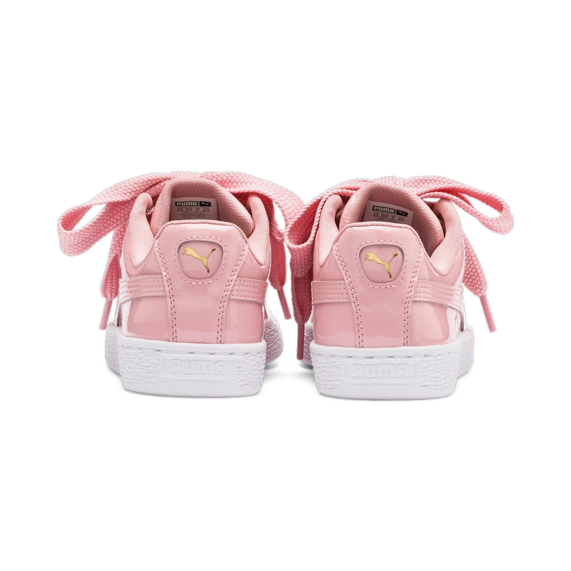 Thumbnail 4 of Basket Heart Patent Women's Sneakers, Bridal Rose-Puma Team Gold, medium