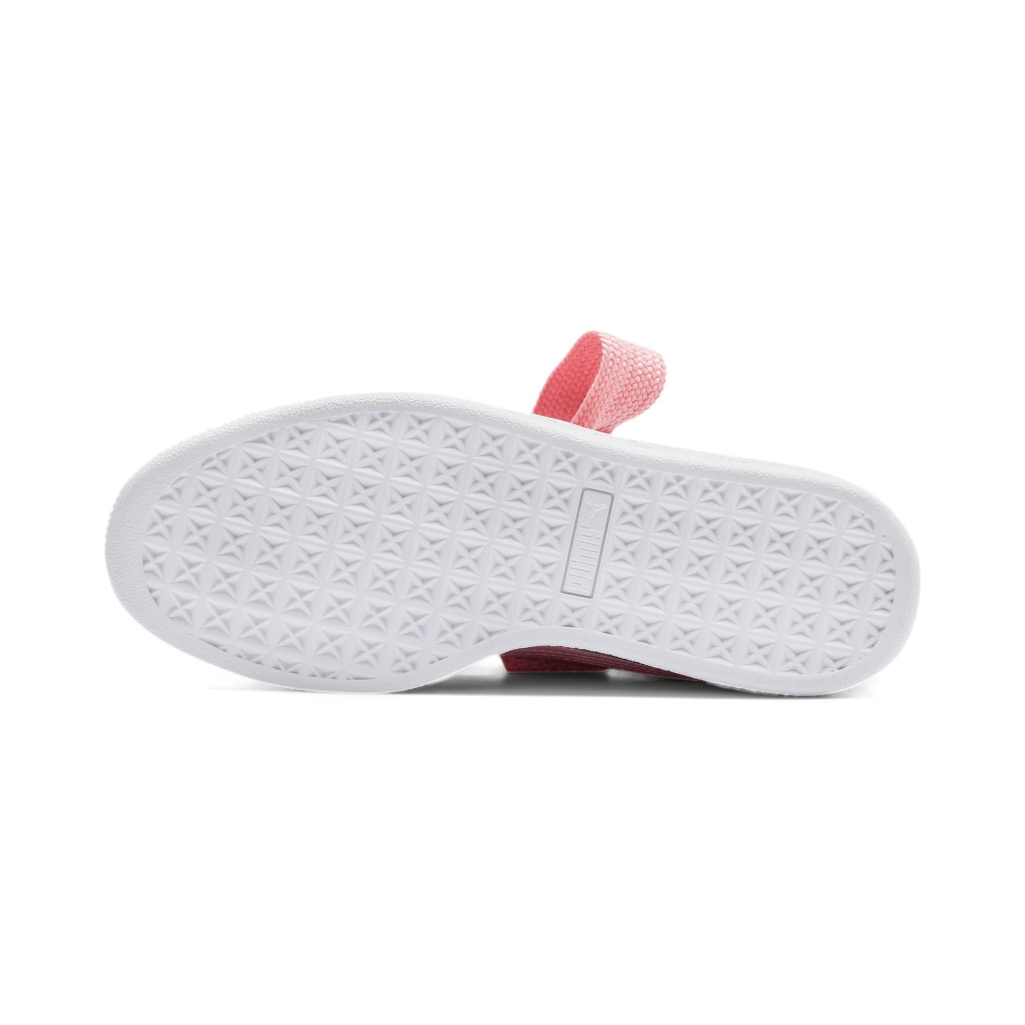 Thumbnail 5 of Basket Heart Patent Women's Sneakers, Bridal Rose-Puma Team Gold, medium