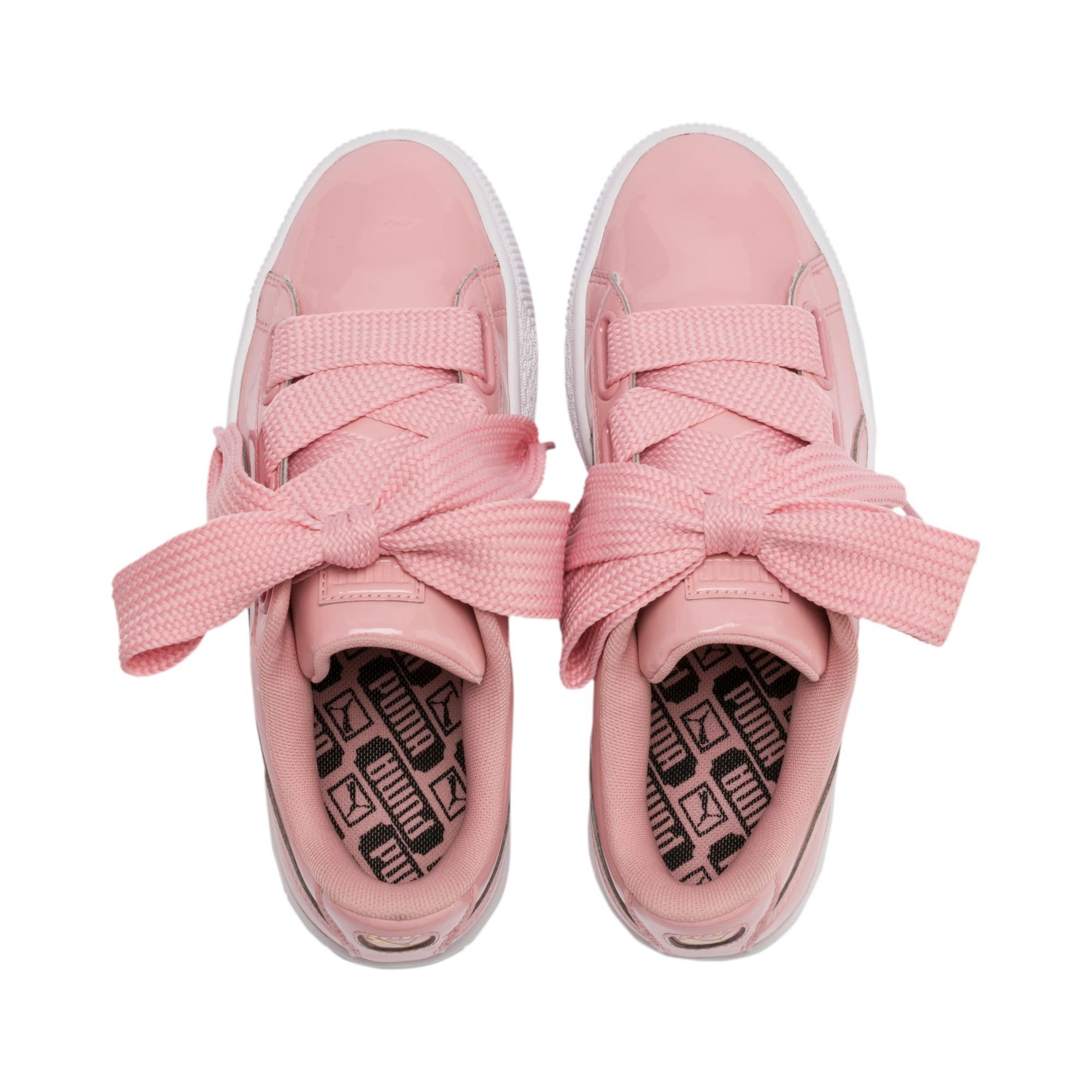 Thumbnail 7 of Basket Heart Patent Women's Sneakers, Bridal Rose-Puma Team Gold, medium