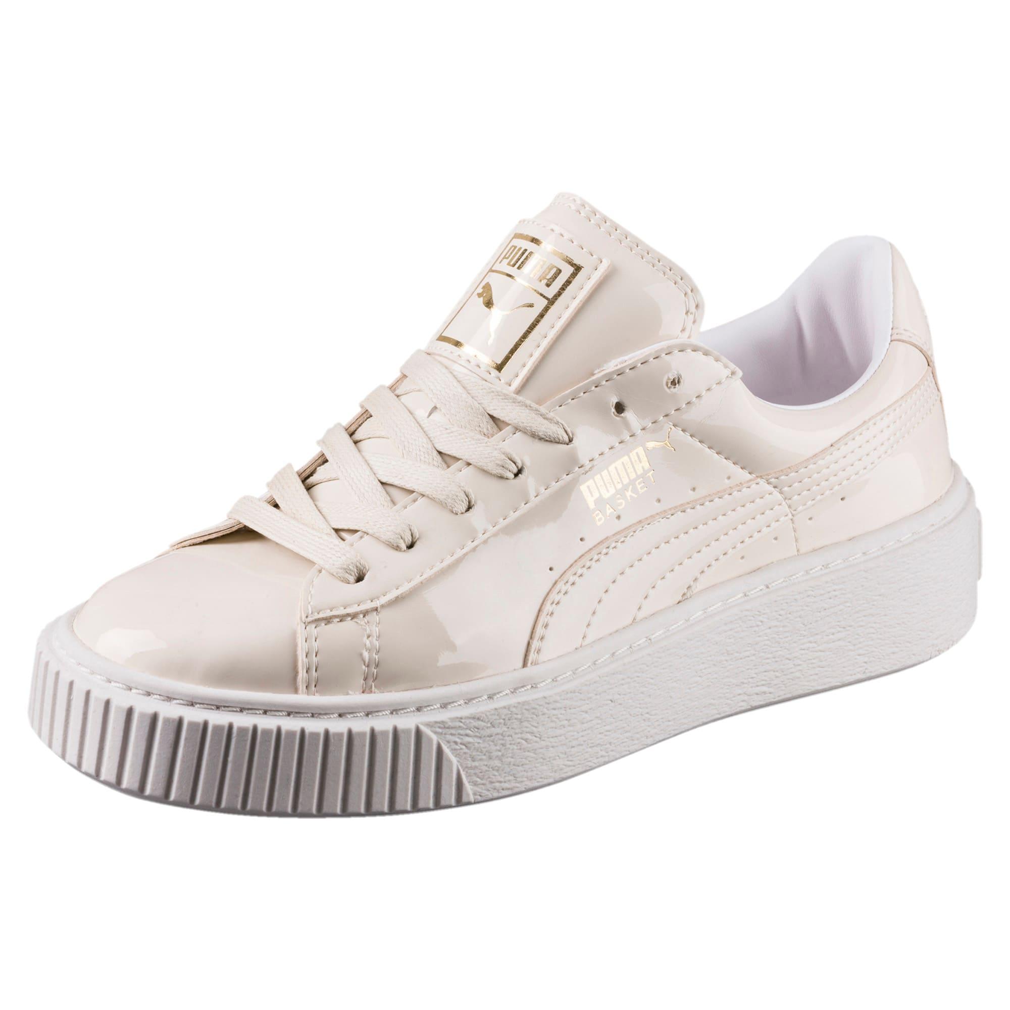 Basket Platform Patent Women's Sneakers