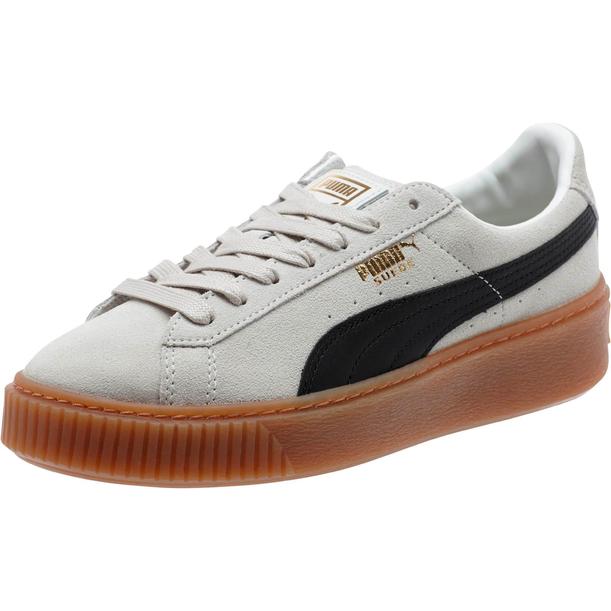 Womens Puma Suede Platform Core Low Top Sneakers Puma