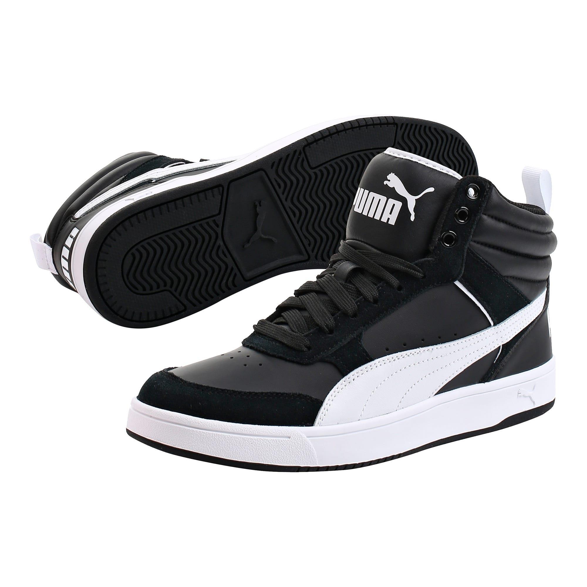 Thumbnail 2 of Puma Rebound Street v2 Sneakers, Puma Black-Puma White, medium