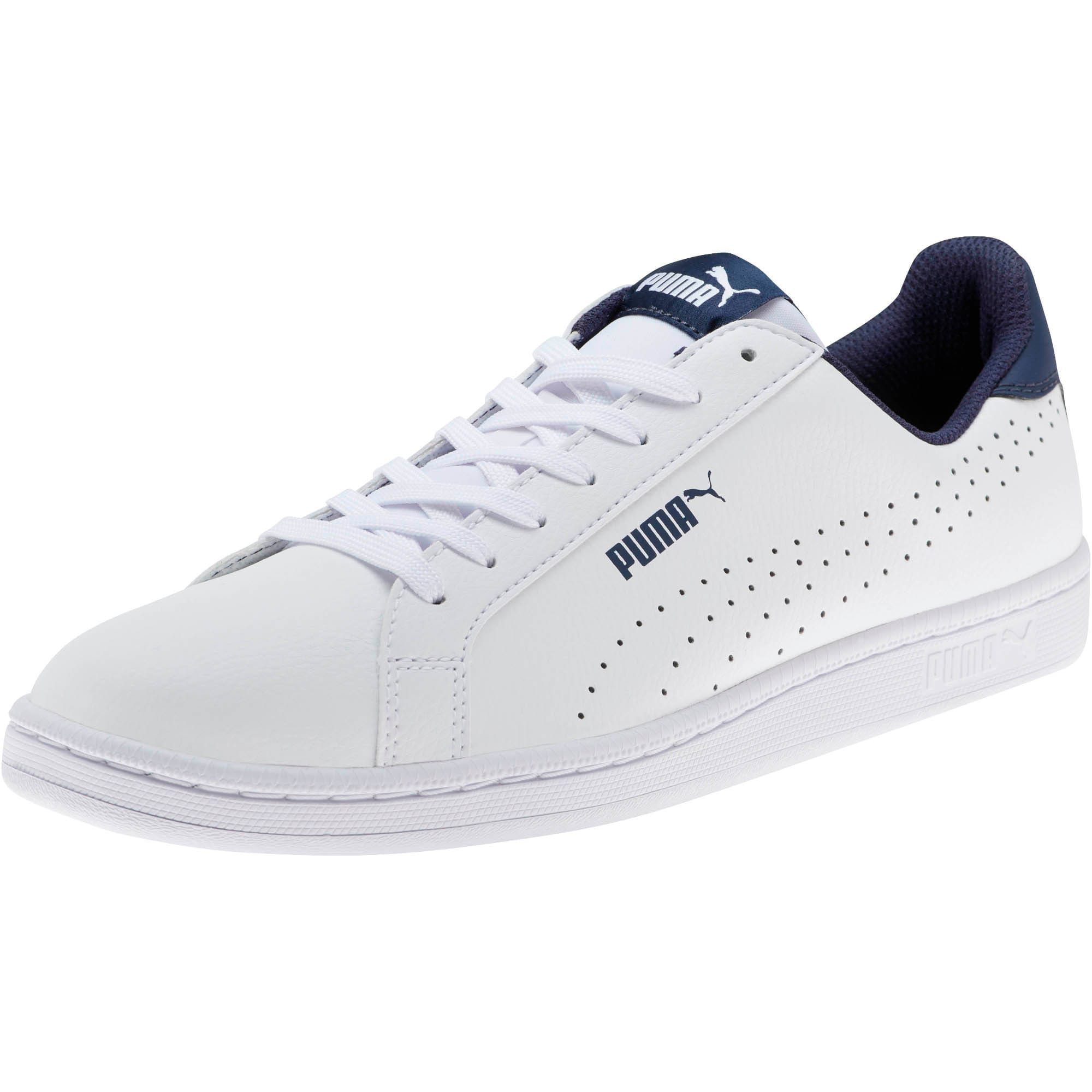 Thumbnail 1 of PUMA Smash Perf Sneakers, Puma White-Peacoat, medium