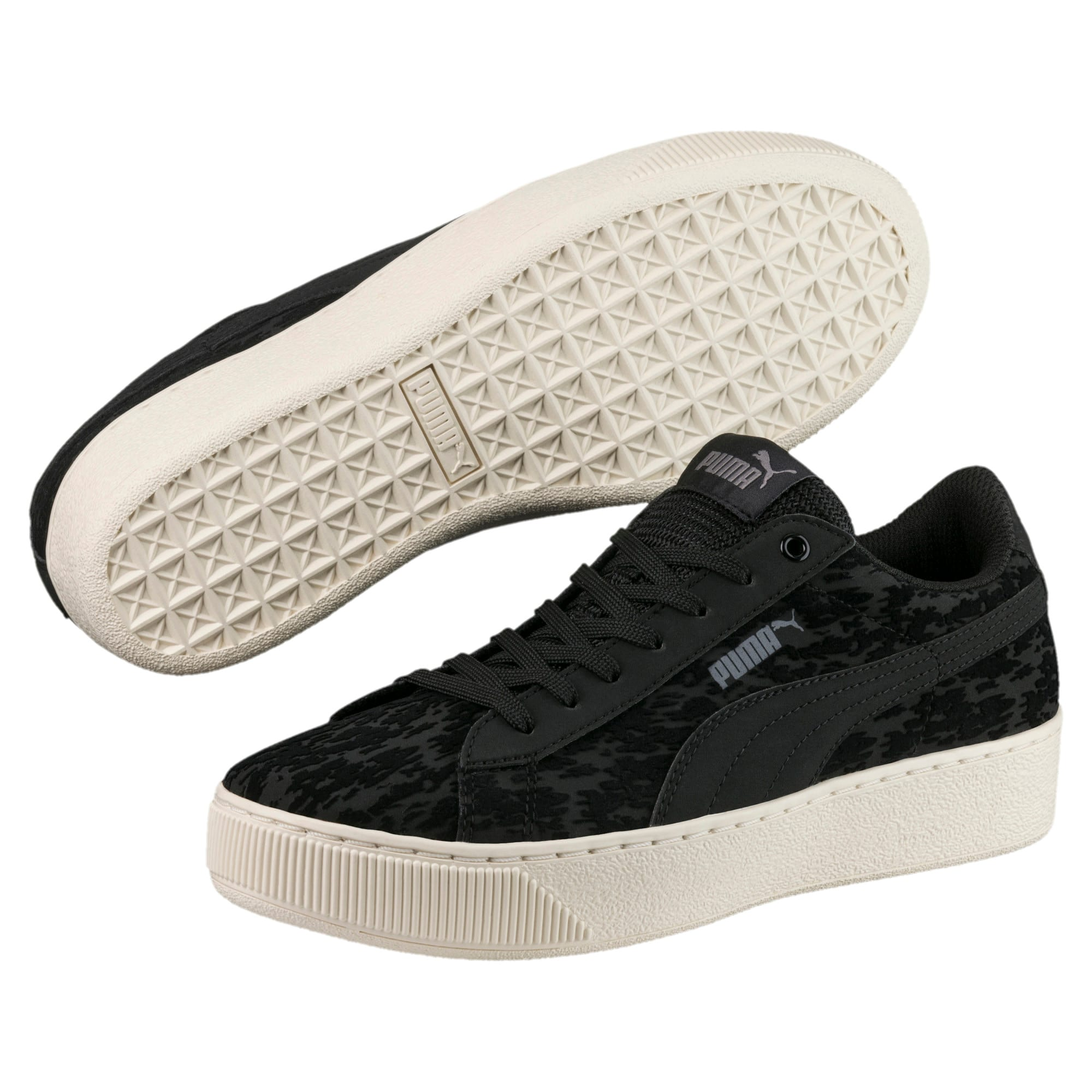 Thumbnail 2 of Vikky Platform Velvet Rope Women's Sneakers, Puma Black-Puma Black, medium