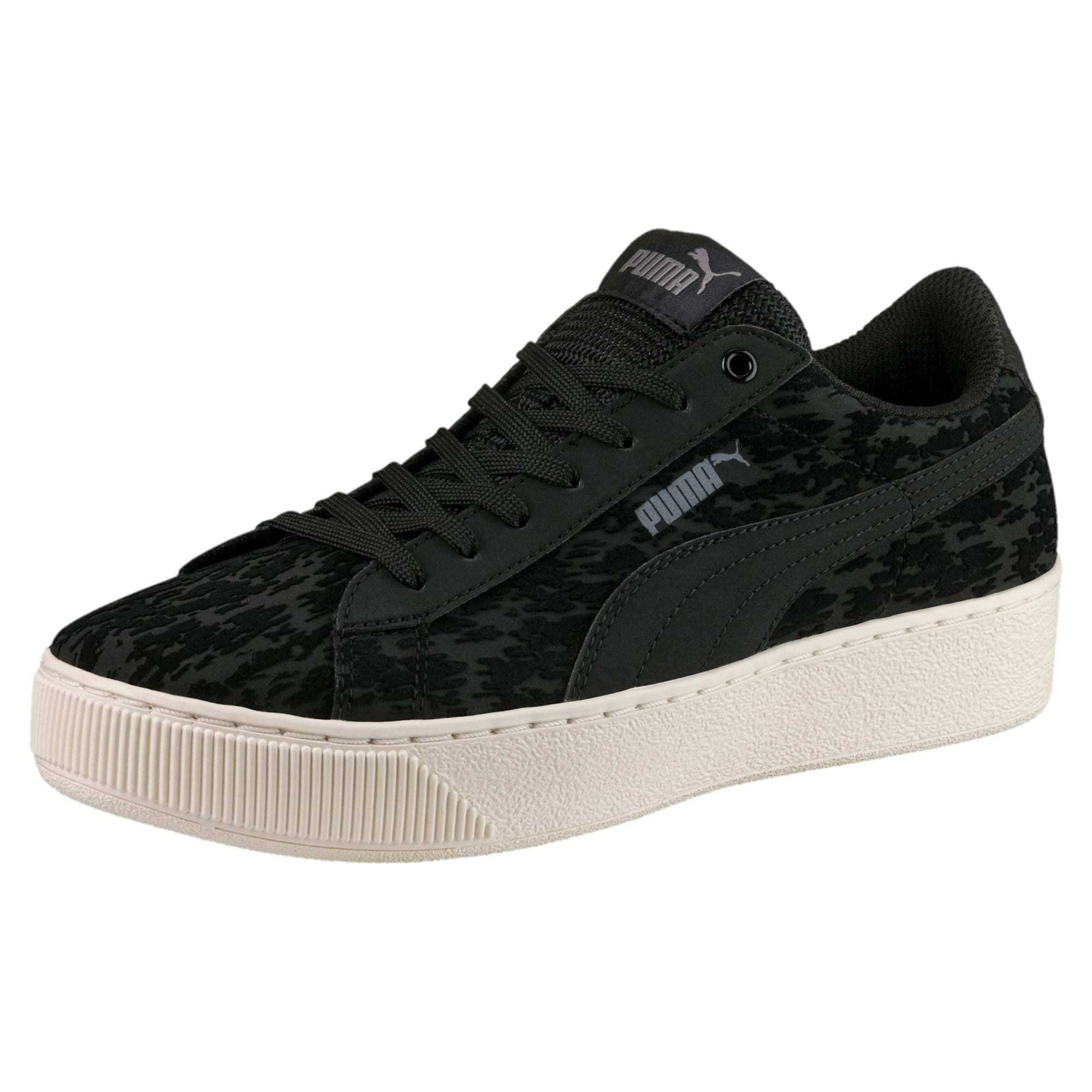 Thumbnail 1 of Vikky Platform Velvet Rope Women's Sneakers, Puma Black-Puma Black, medium