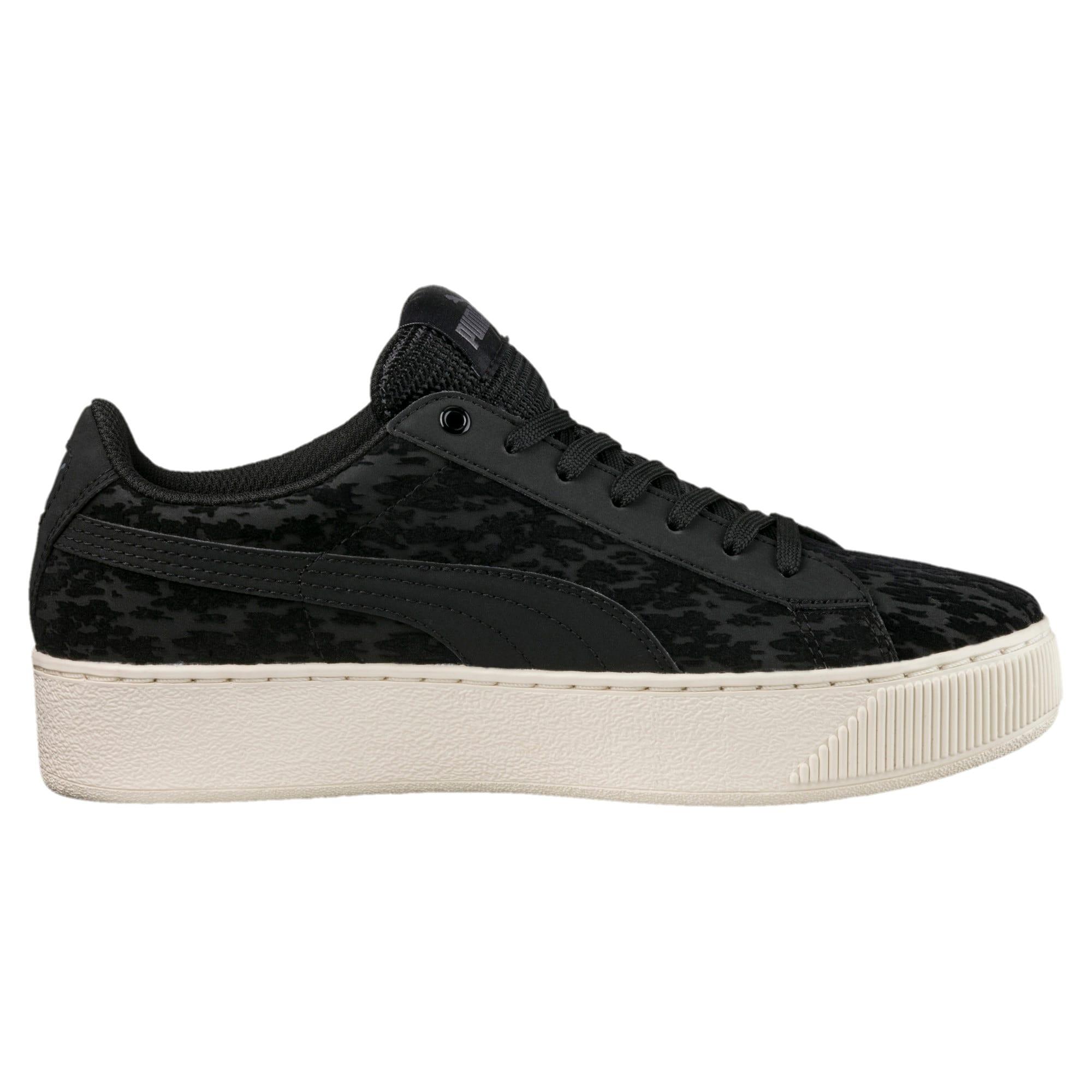 Thumbnail 3 of Vikky Platform Velvet Rope Women's Sneakers, Puma Black-Puma Black, medium