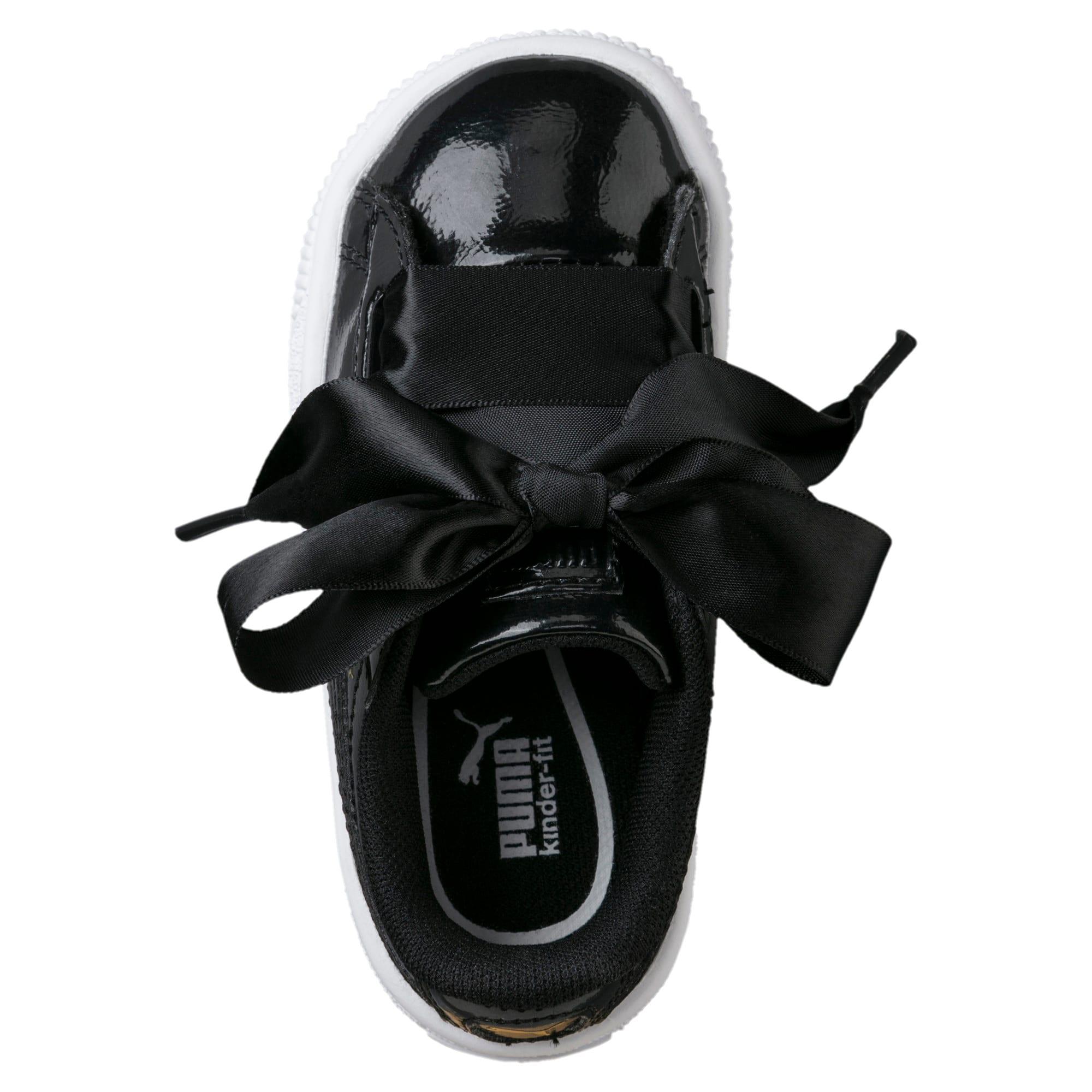 Thumbnail 5 of Basket Heart Glam Little Kids' Shoes, Puma Black-Puma Black, medium