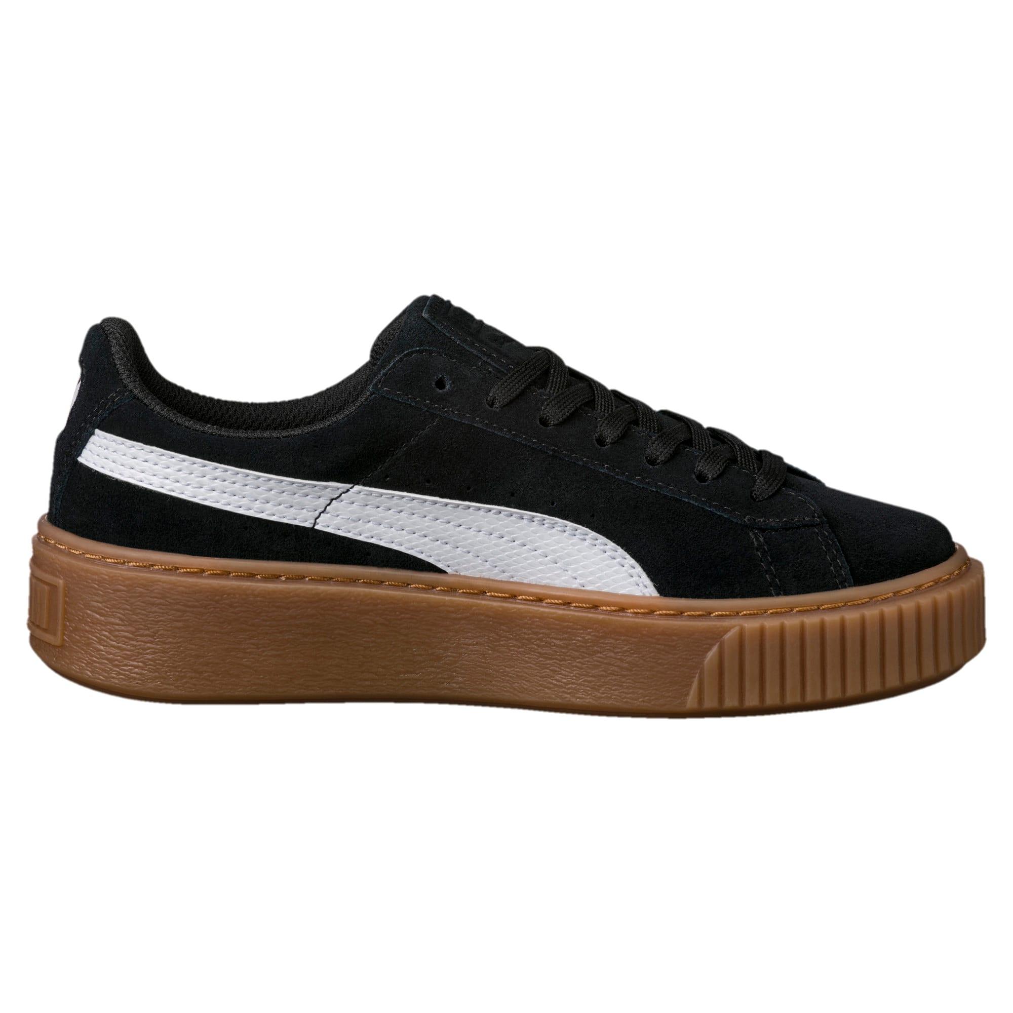Suede Platform Snake Sneakers JR