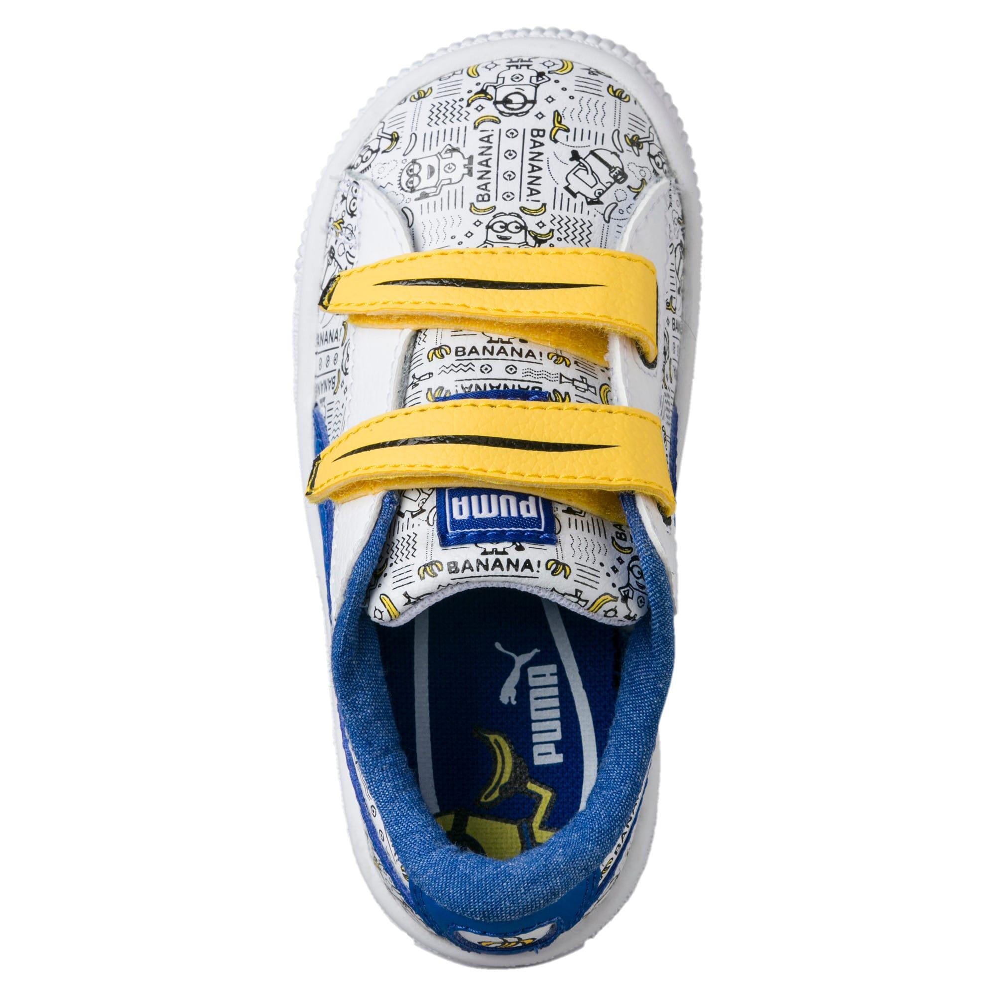 Thumbnail 5 of Minions Basket Little Kids' Shoes, Puma White-Lapis Blue, medium