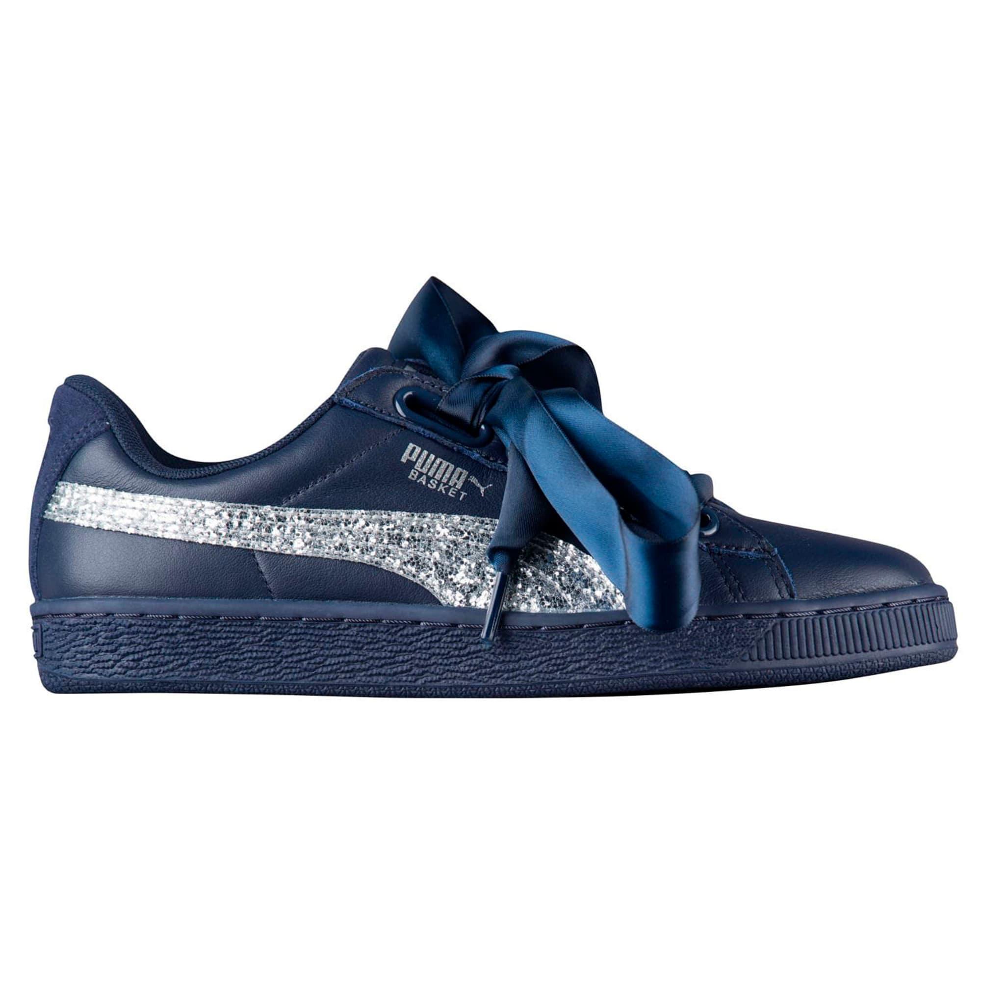 best sneakers 1fbef ceba3 Basket Heart Glitter Women's Sneakers